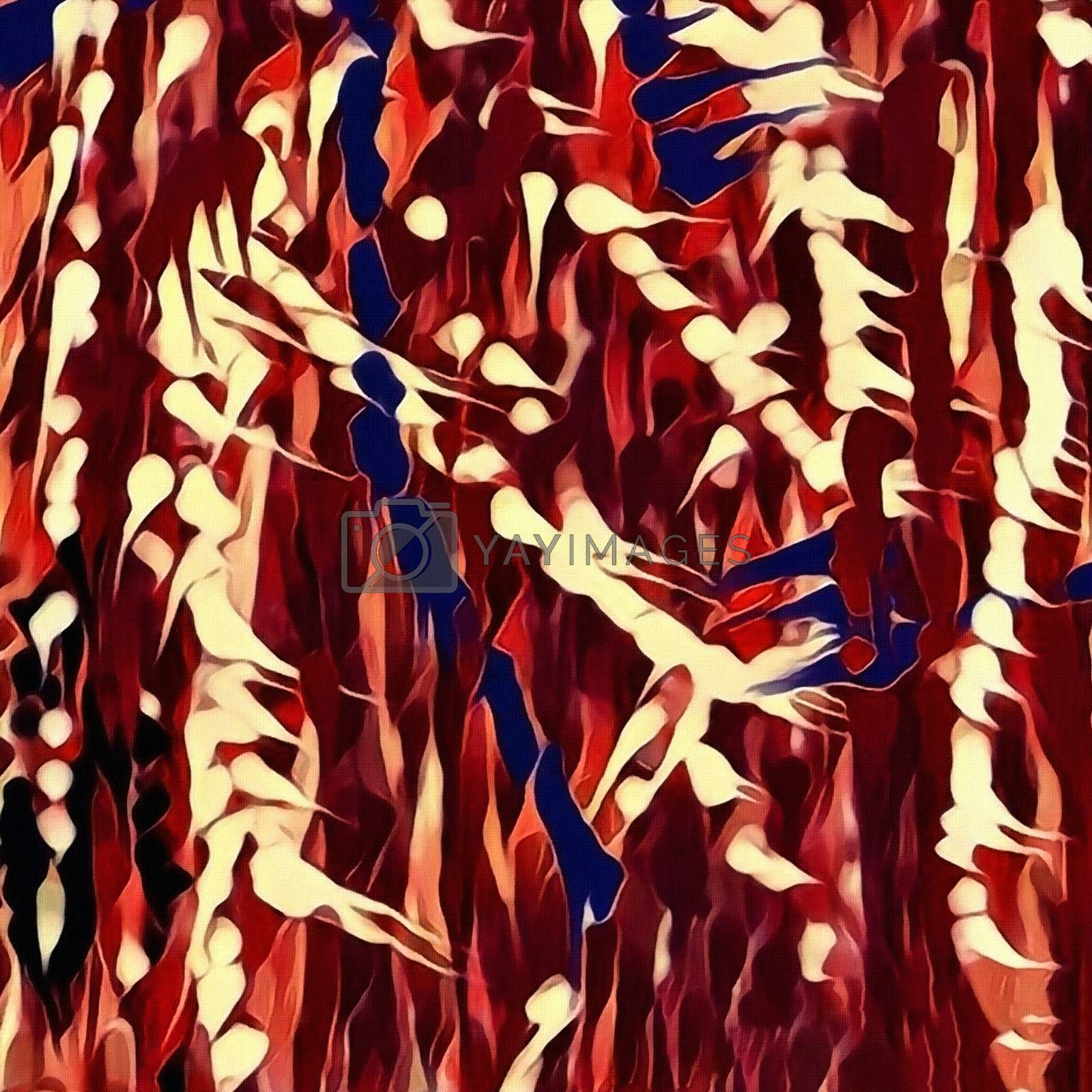Abstract painting. Brush strokes. 3D rendering