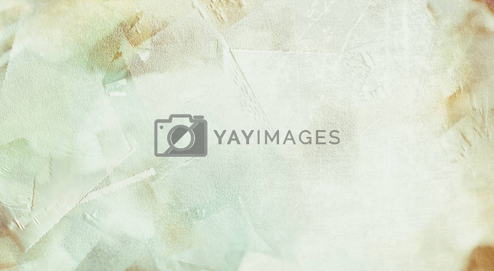 Abstract painting in light soft colors. 3D rendering