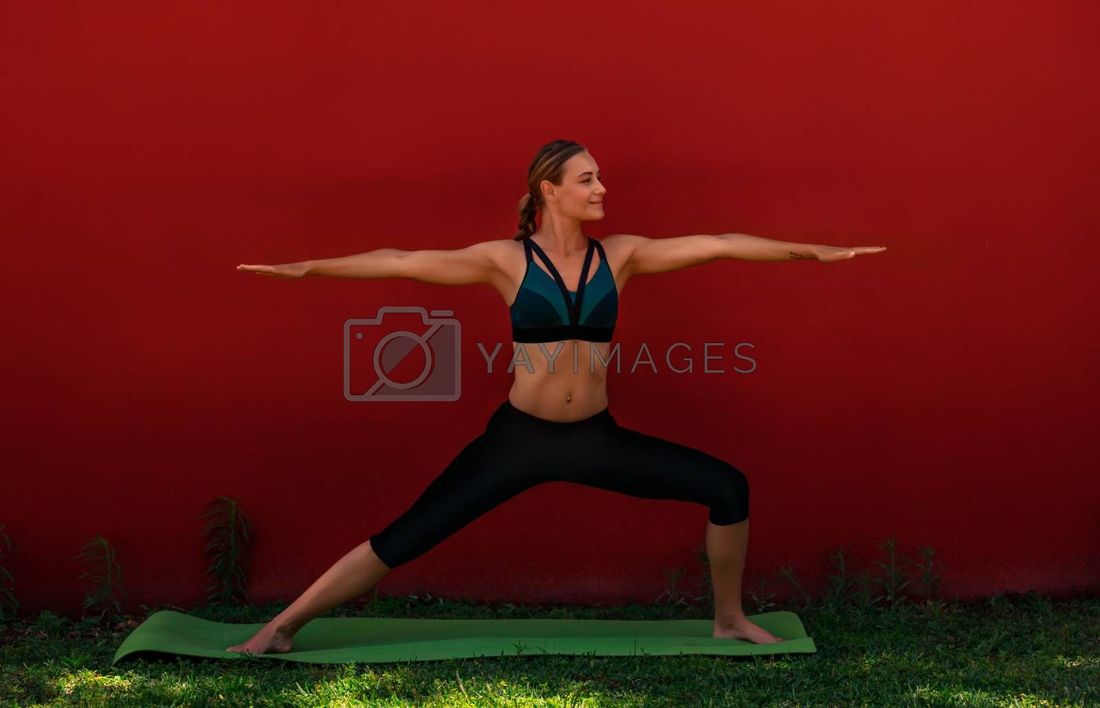 Yoga Outdoors by Anna_Omelchenko