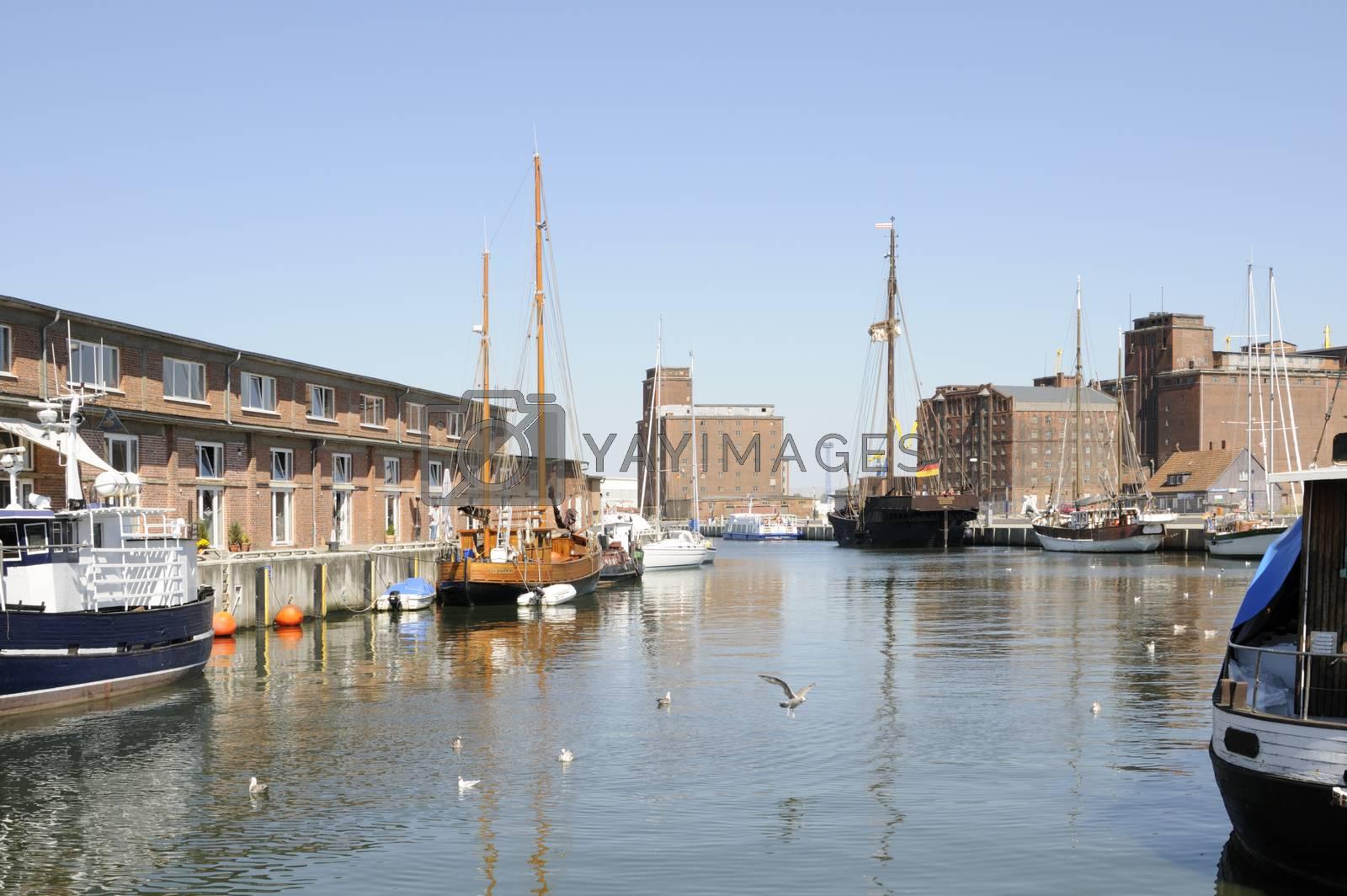 Port of Wismar, Germany.