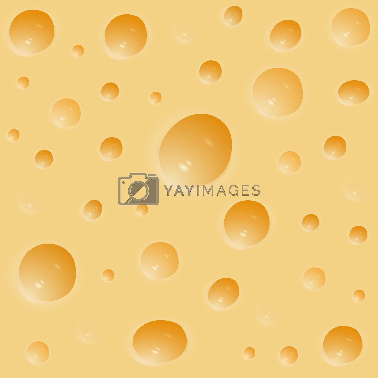 Cheese background with a beautiful texture with dimples. Food product.