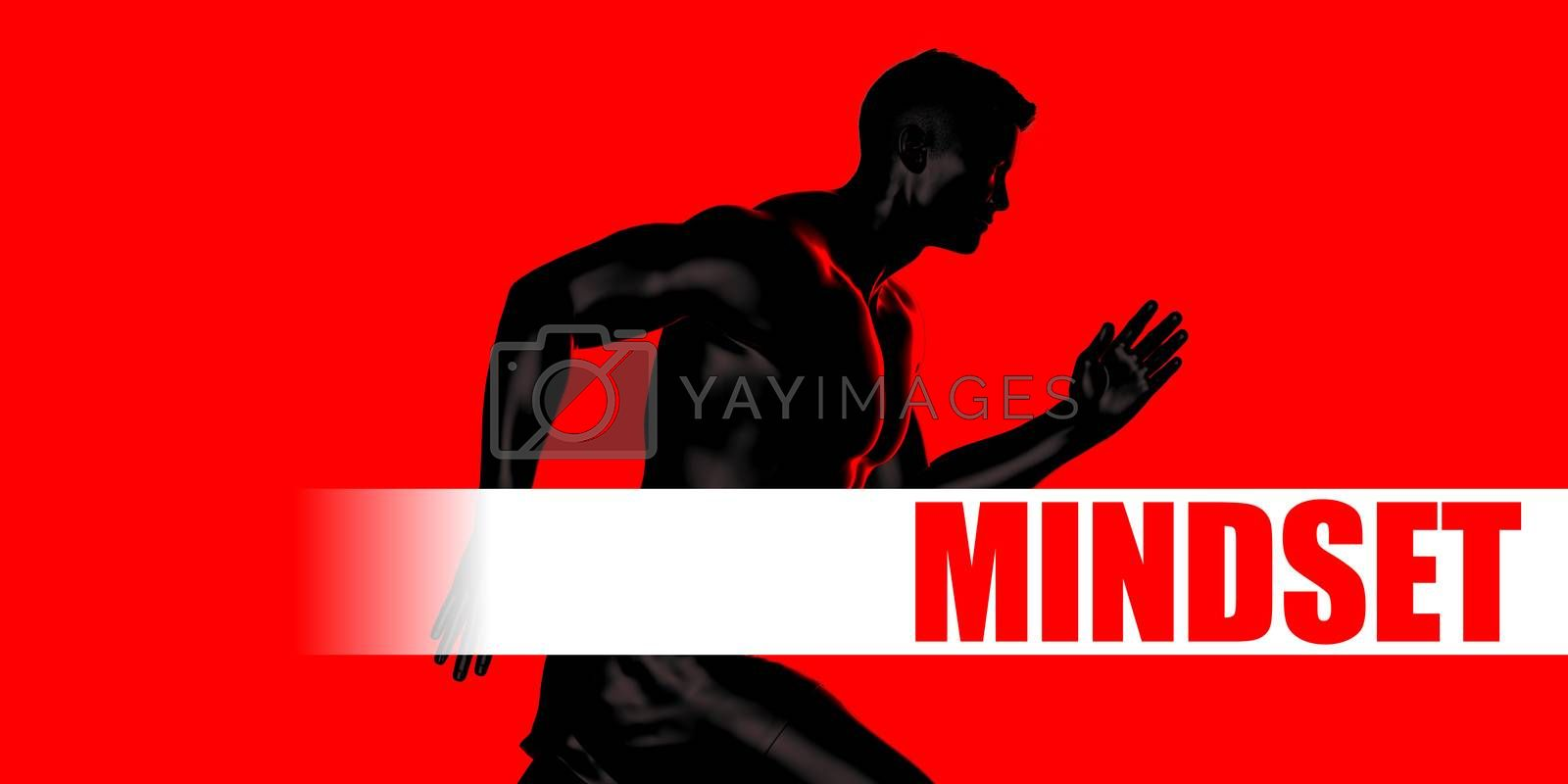 Mindset Concept with Fit Man Running Lifestyle