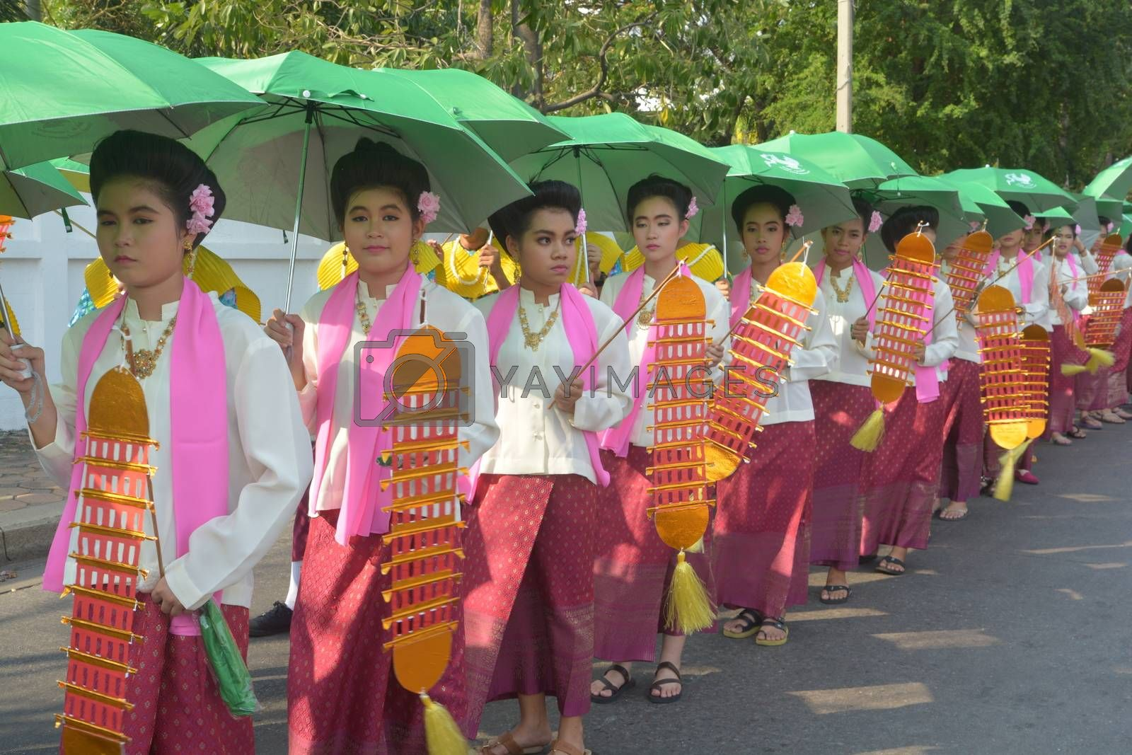 Royalty free image of Songkran Festival in the Thai-Mon style by ideation90
