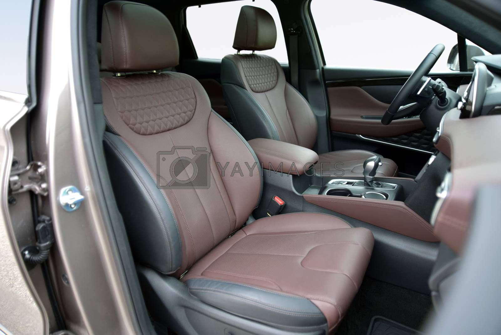 Royalty free image of Front seats of a modern SUV by aselsa