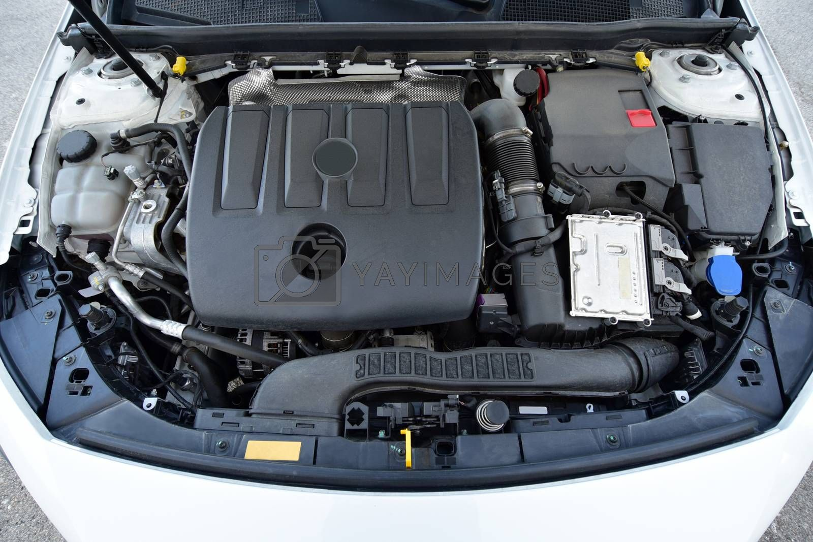 Royalty free image of Engine in a passenger car by aselsa