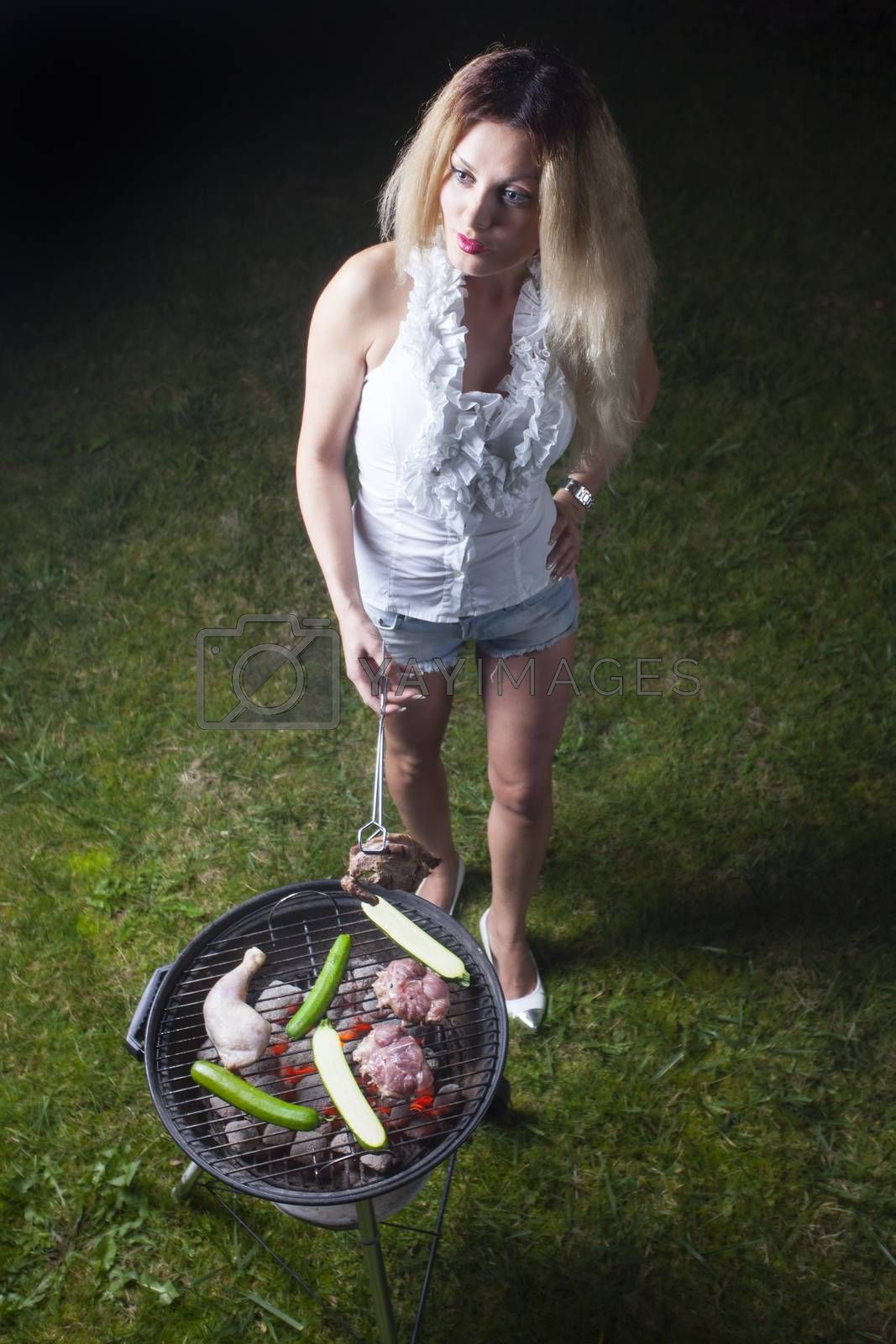 woman at the bbq