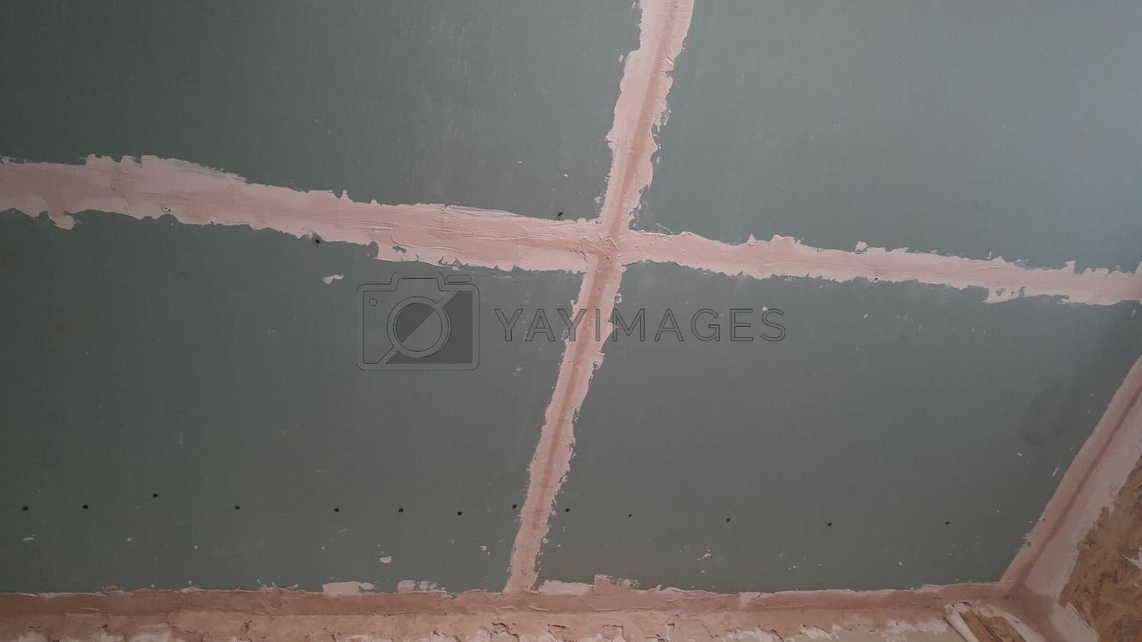 Plasterboard filler technology before the painting