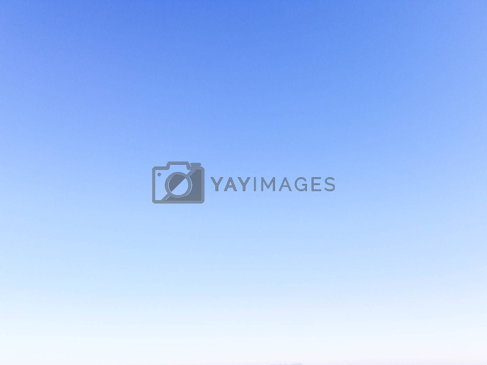 Blue clear sky, gradient background