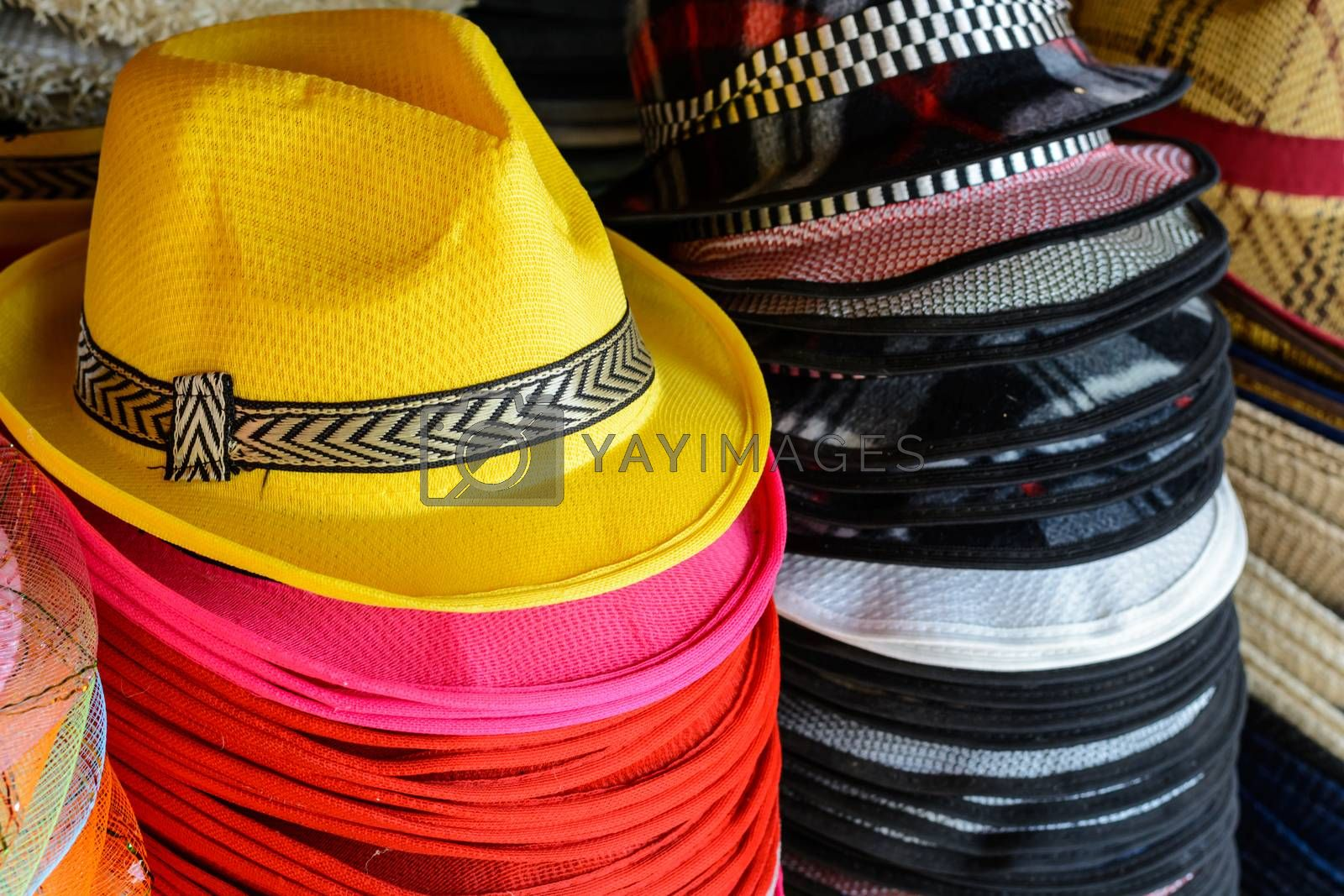 Fashion hat are colorful and beauty
