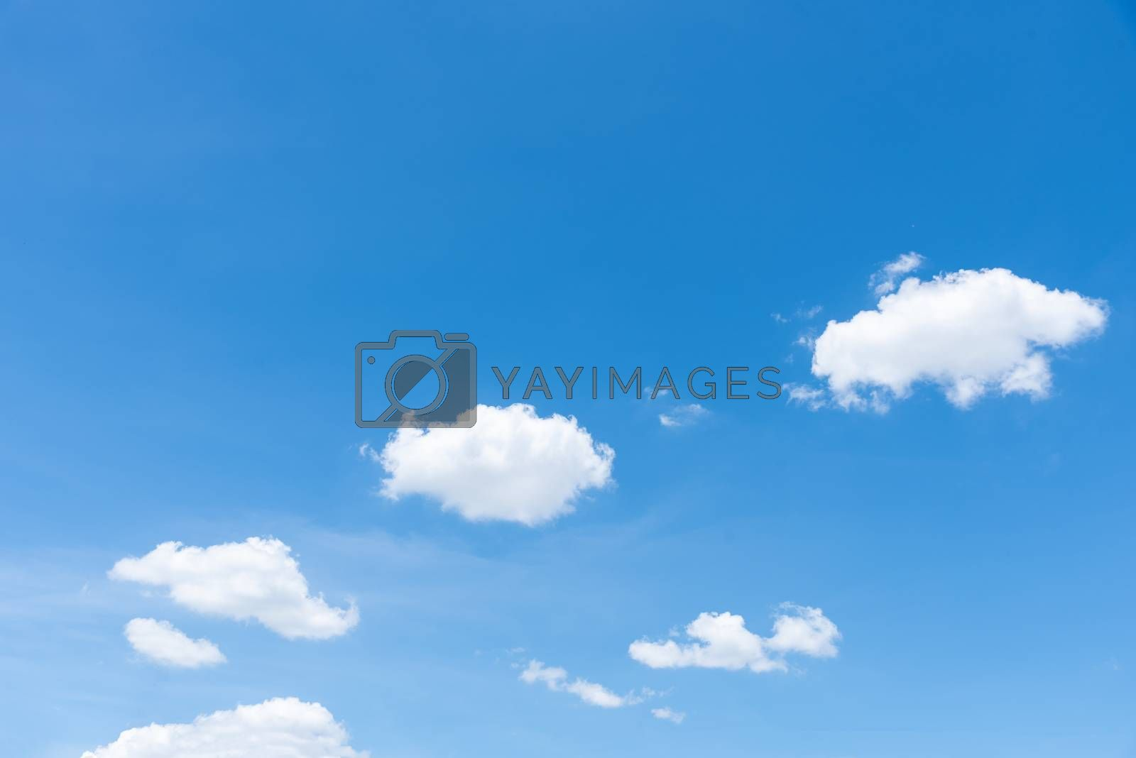 The nature of blue sky with cloud in the morning.