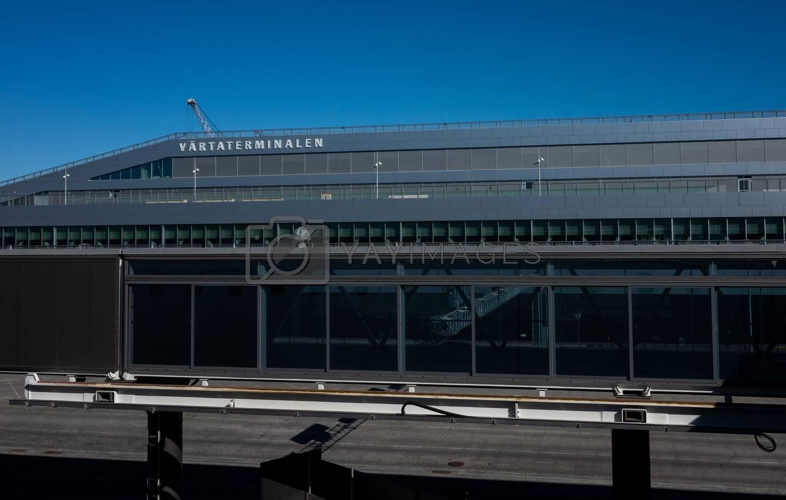 22 April 2019, Stockholm, Sweden. Passenger terminal in the port Vartahamnen in Stockholm.