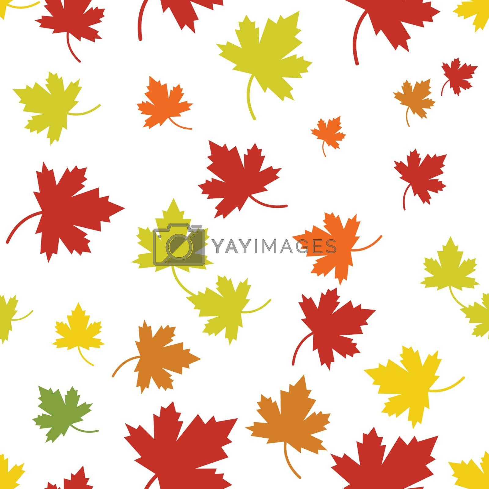 Maple leaf vector illustration design template
