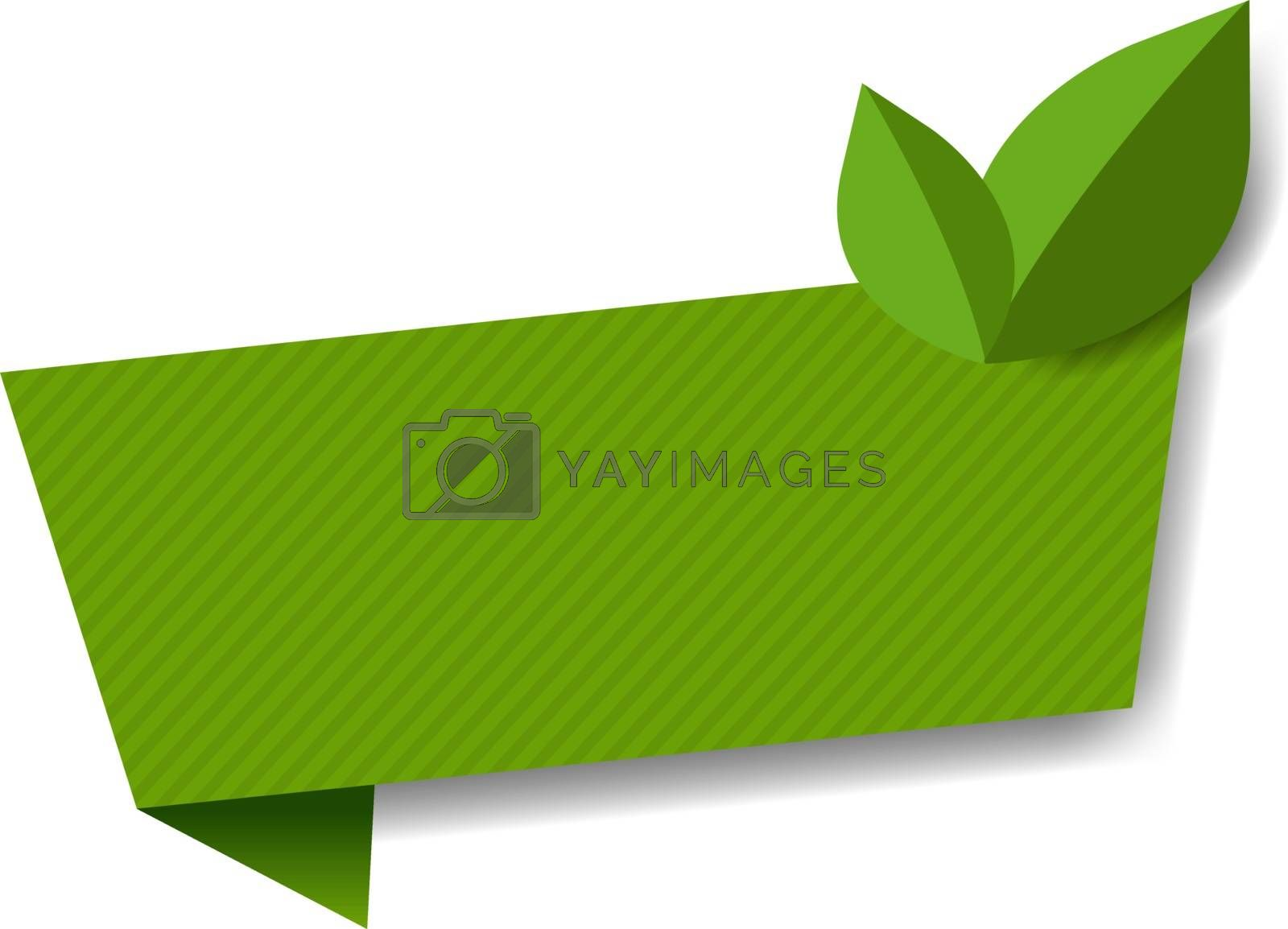 Label With Leaves White Background With Gradient Mesh, Vector Illustration
