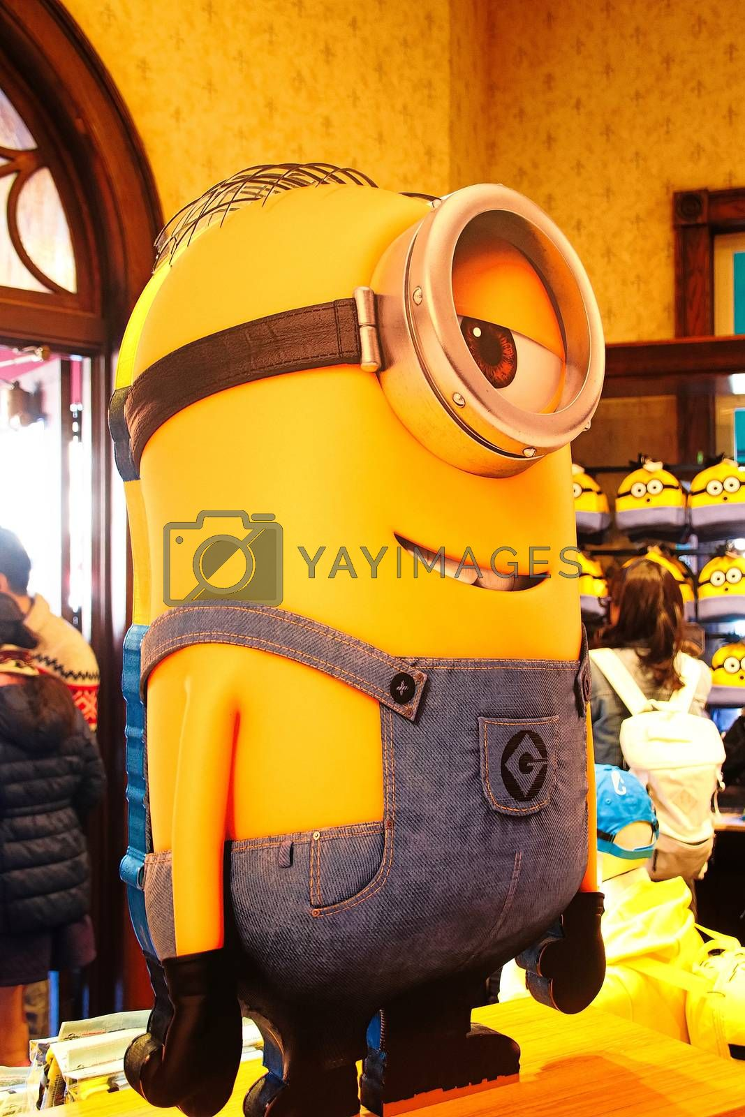 OSAKA, JAPAN - JAN 07, 2020 : Sign of 'MINION PARK', located in Universal Studios JAPAN, Osaka, Japan. Minions are famous character from Despicable Me animation.
