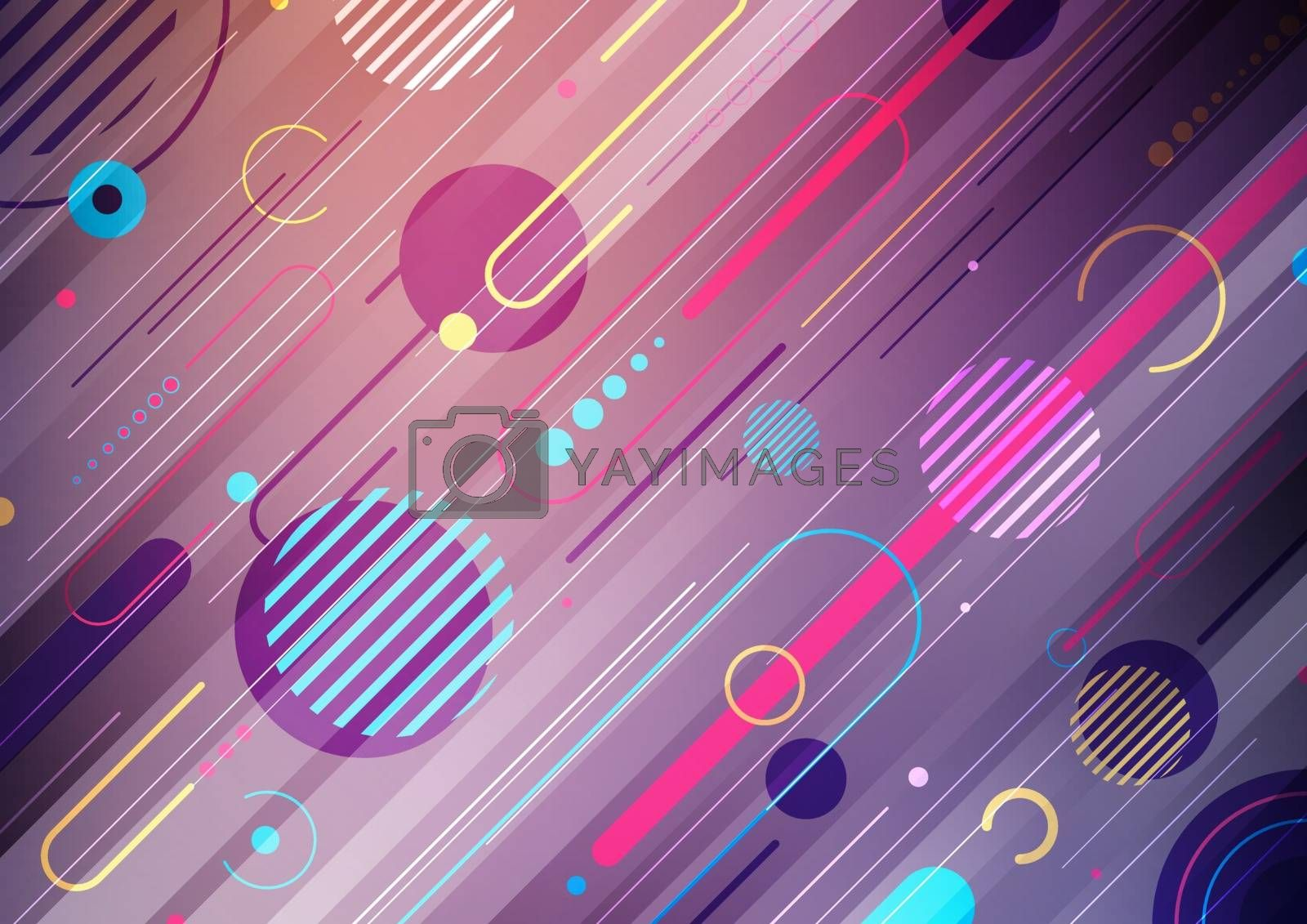 Creative abstract dynamic geometric elements pattern design on  stripes diagonal geometric lines pattern background. You can use for template cover brochure, poster, banner web, flyer, etc. Vector illustration