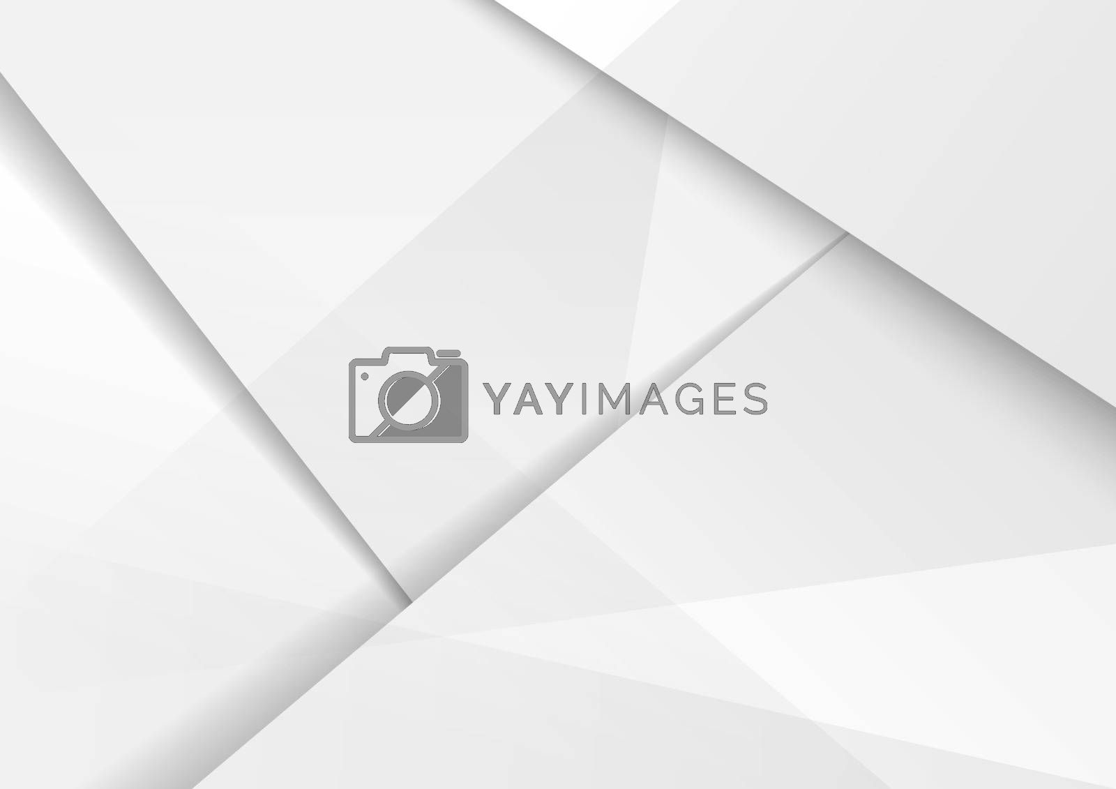 Abstract modern background design white and gray hi-tech polygonal corporate with shadow. You can use for template brochure, poster, banner web, etc. Vector illustration