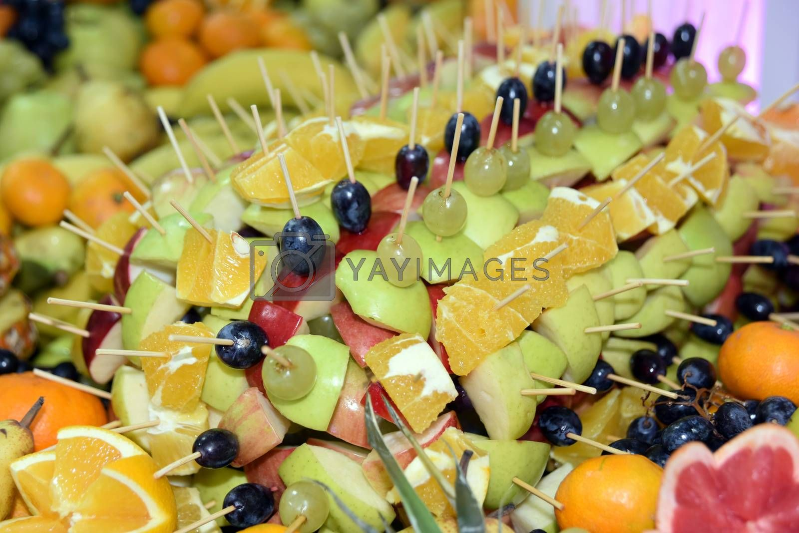 Royalty free image of Served various fruits by aselsa