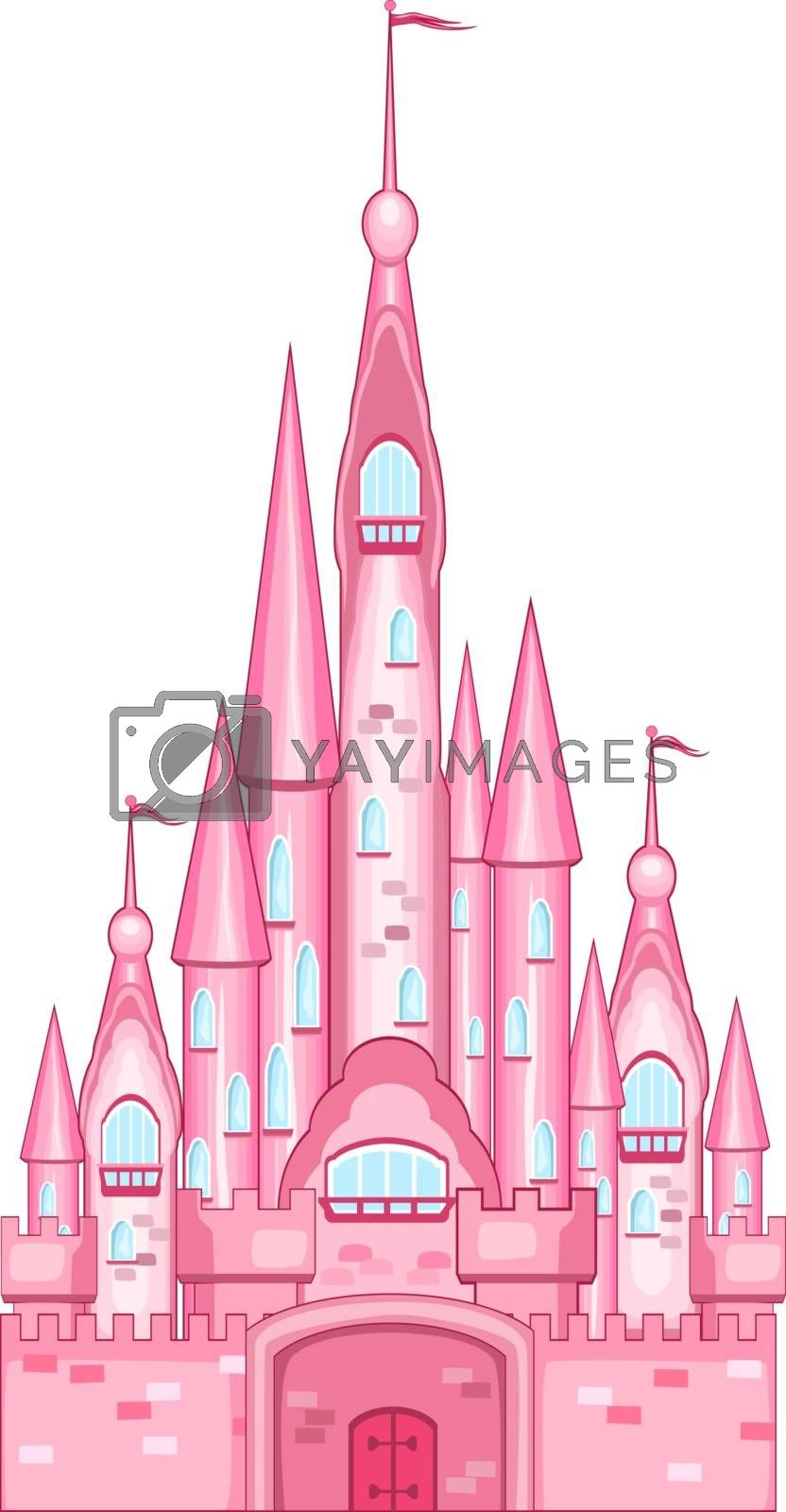 Pink castle for the princess by liolle