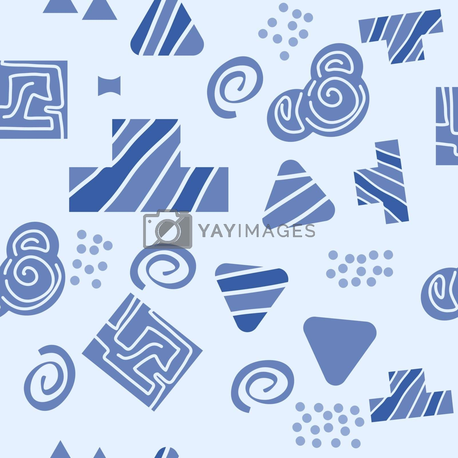 Abstract geometric seamless pattern in scandinavian style. Vector Illustration