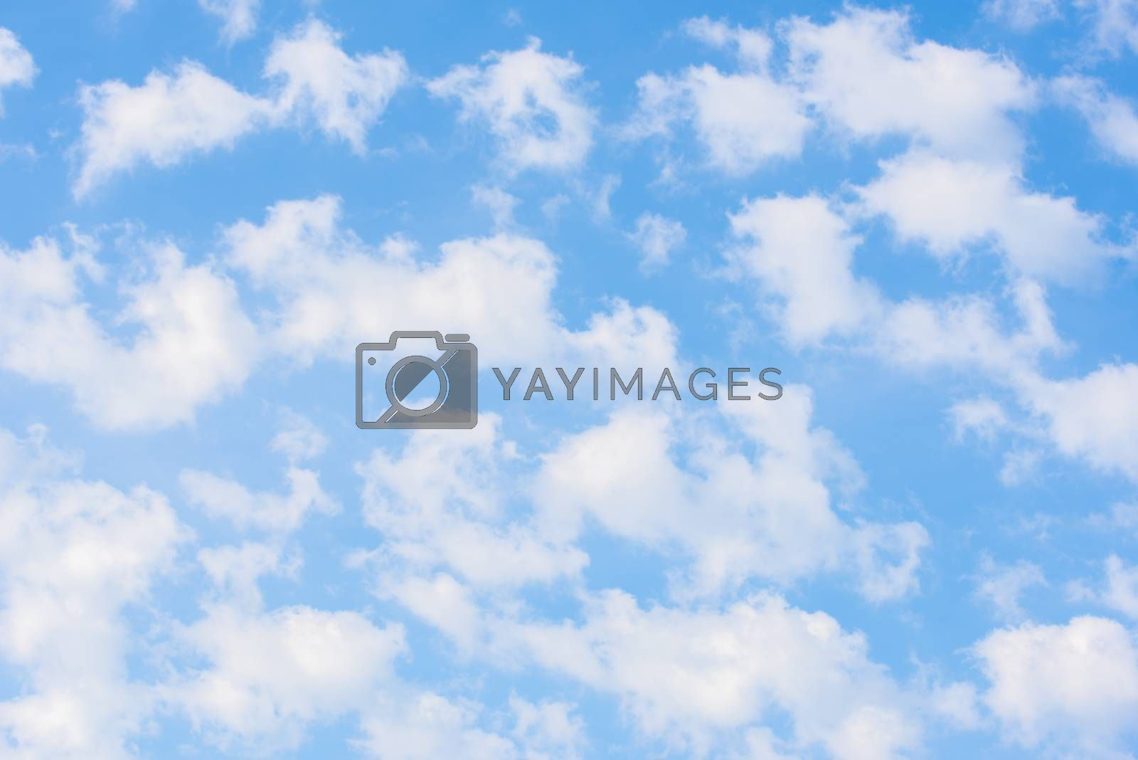 Royalty free image of Beauty white cloud and blue sky by Visual-Content