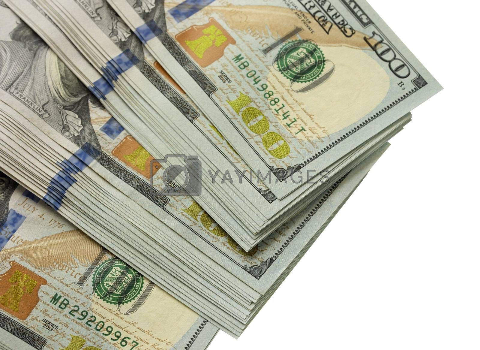 Royalty free image of Packs of dollars isolated by Visual-Content