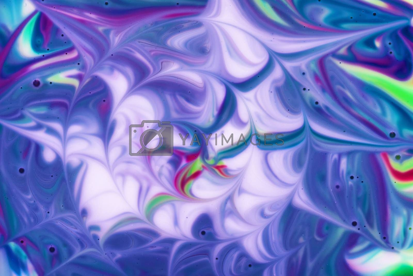 Abstract fluid pattern. Colorful painted background. Decorative marble texture.