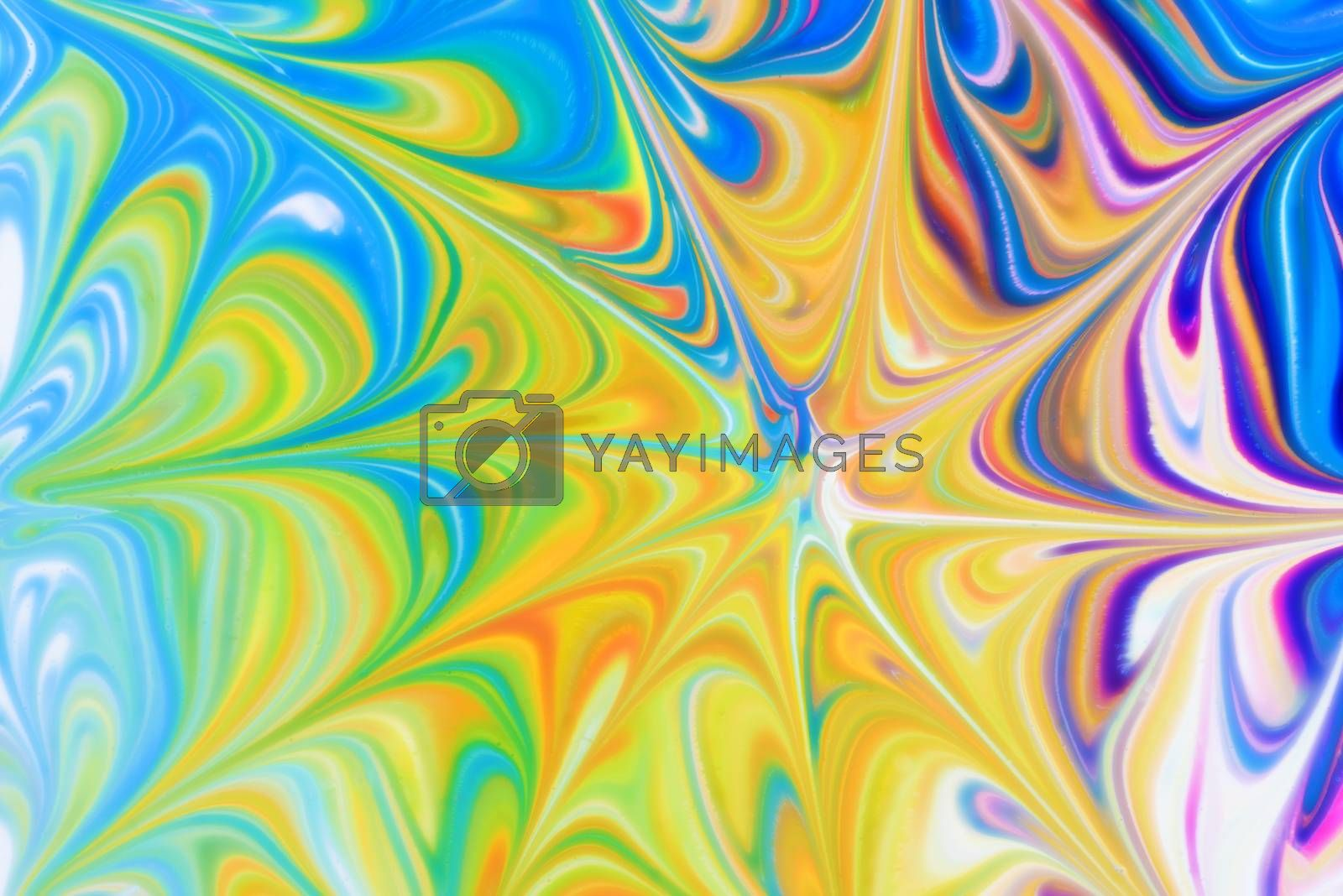Abstract fluid pattern. Colorful painted background. Decorative marble texture. Soft focus