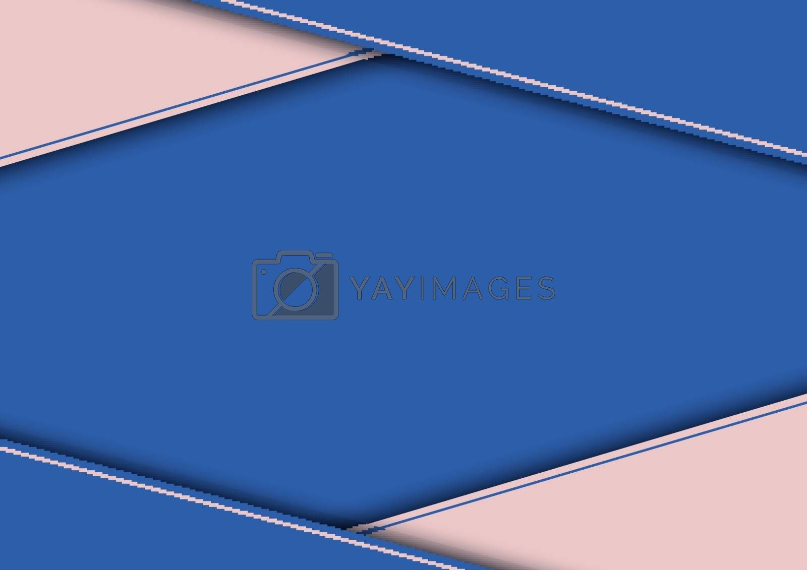 Abstract modern template blue and pink triangle background papercut style. You can use for brochure, flyer, book cover, presentation, banner, etc. Vector illustration