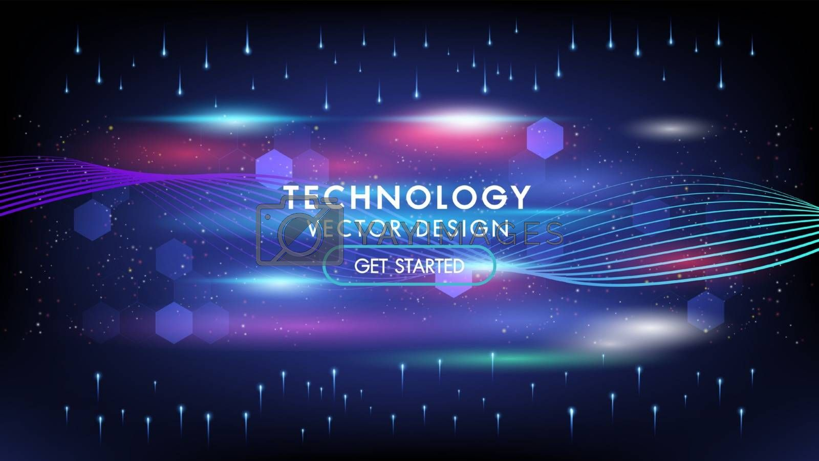 Abstract technology background concept communication connecting dots and lines futuristic shape with copy space. High speed. Hi-tech.Big data visualization.