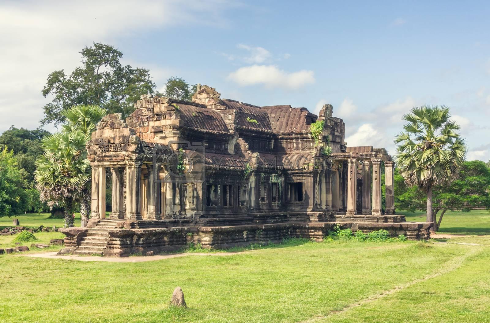 Angkor Wat in Cambodia. Ancient temple complex Angkor Wat