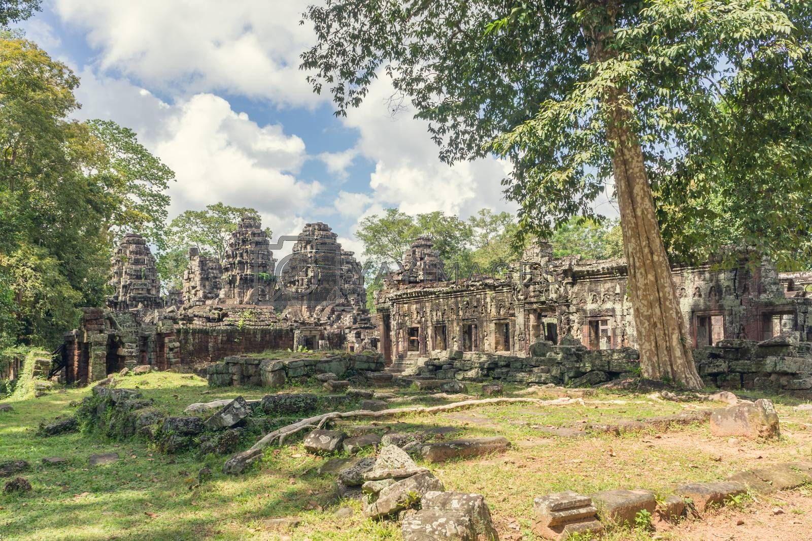 Angkor Wat in Cambodia. Ancient temple complex Banteay Kdei