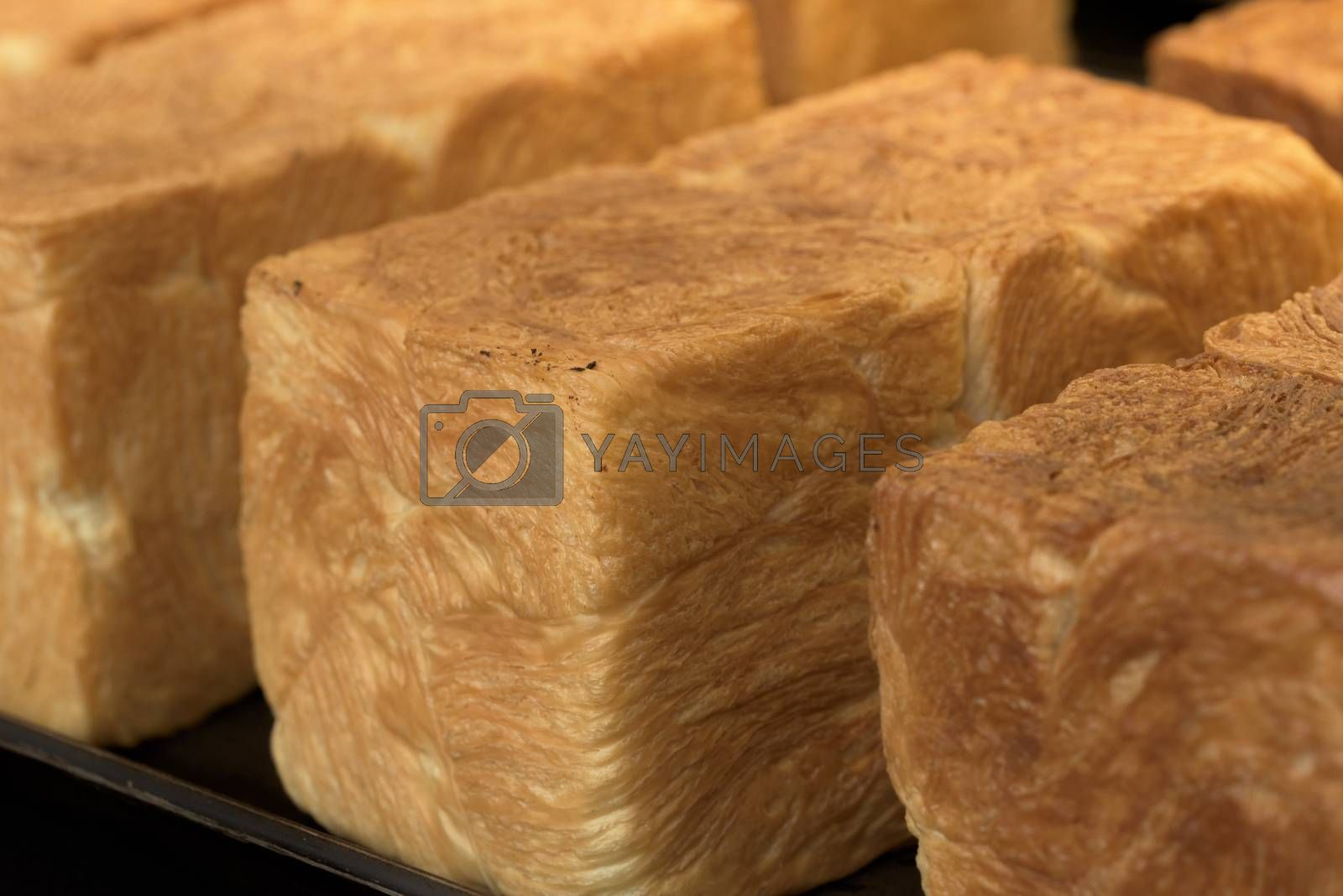Bread on the counter. Freshly baked bread
