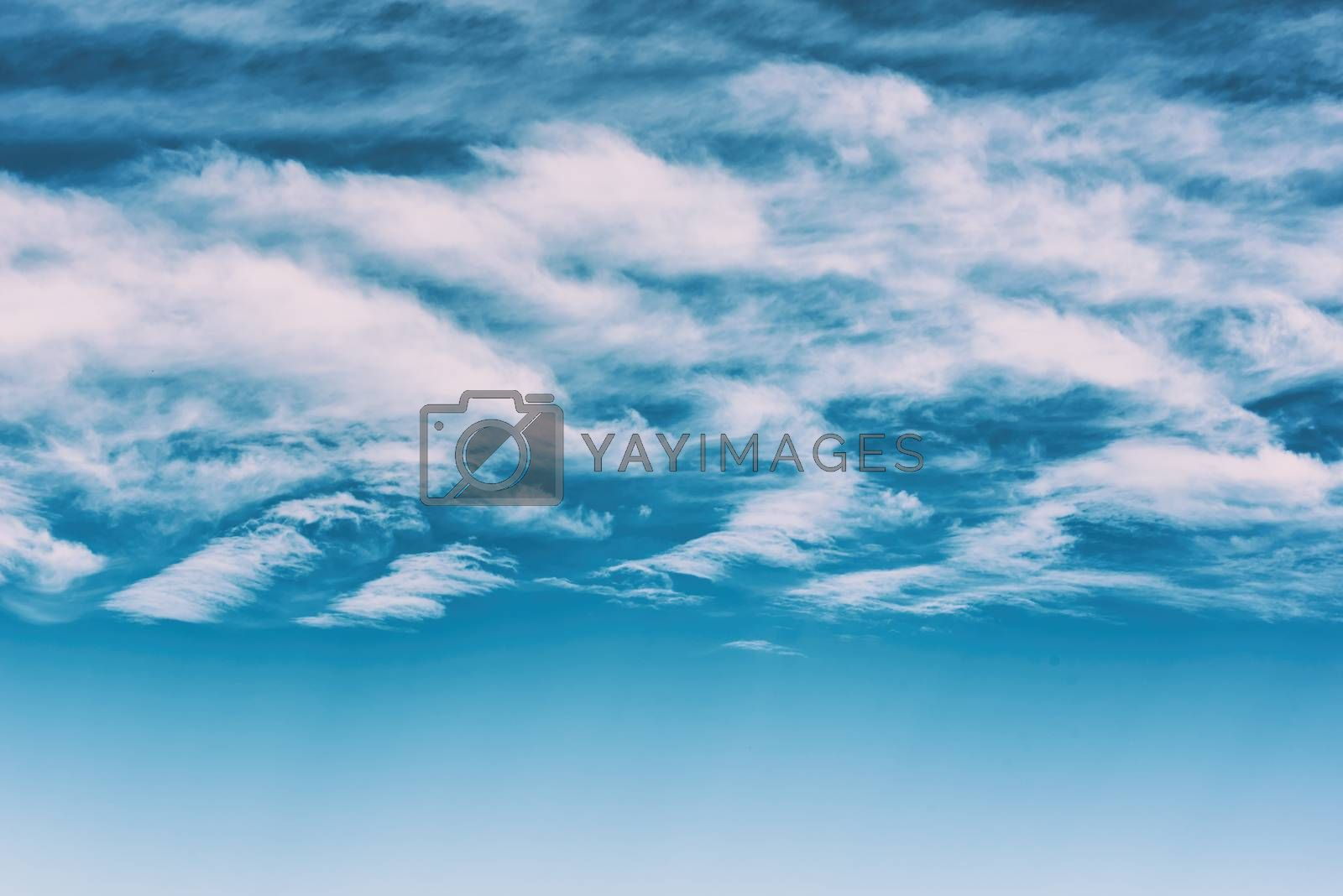 White clouds in the sky. Blue sky with white clouds