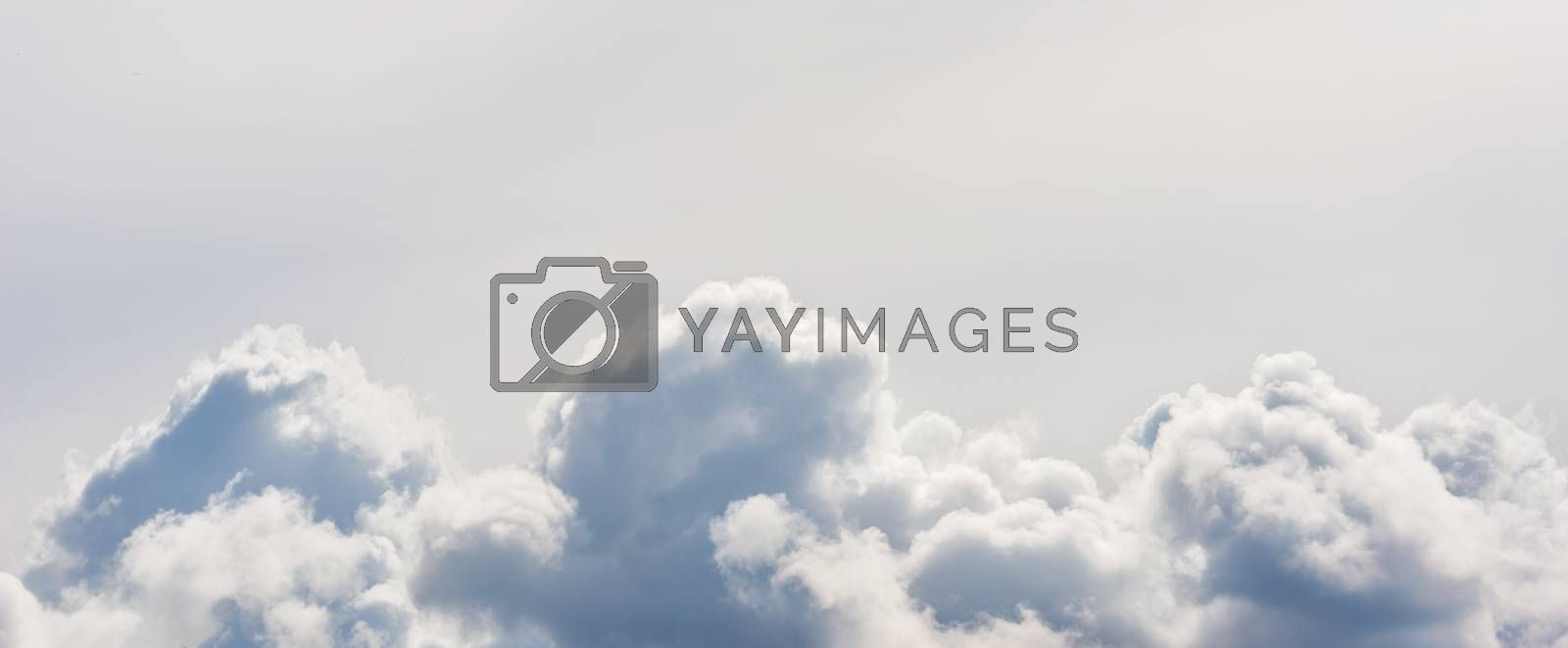 Cloud background. White clouds in the sky. White sky.