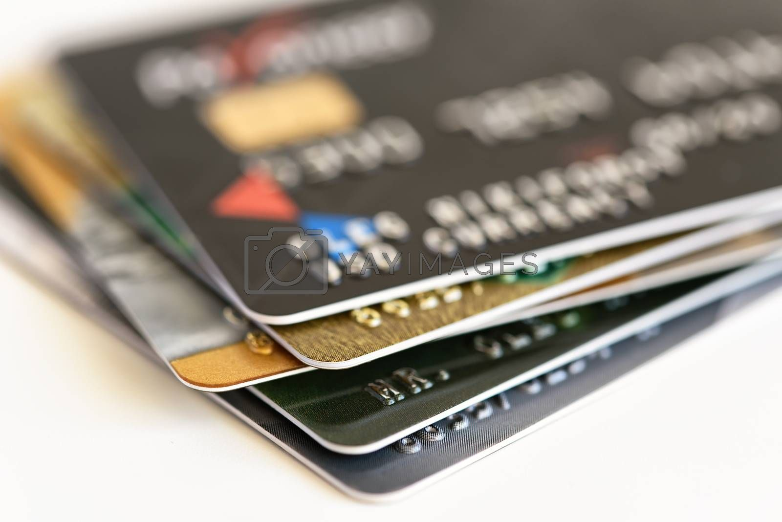 Credit card close-up. Plastic card for payments