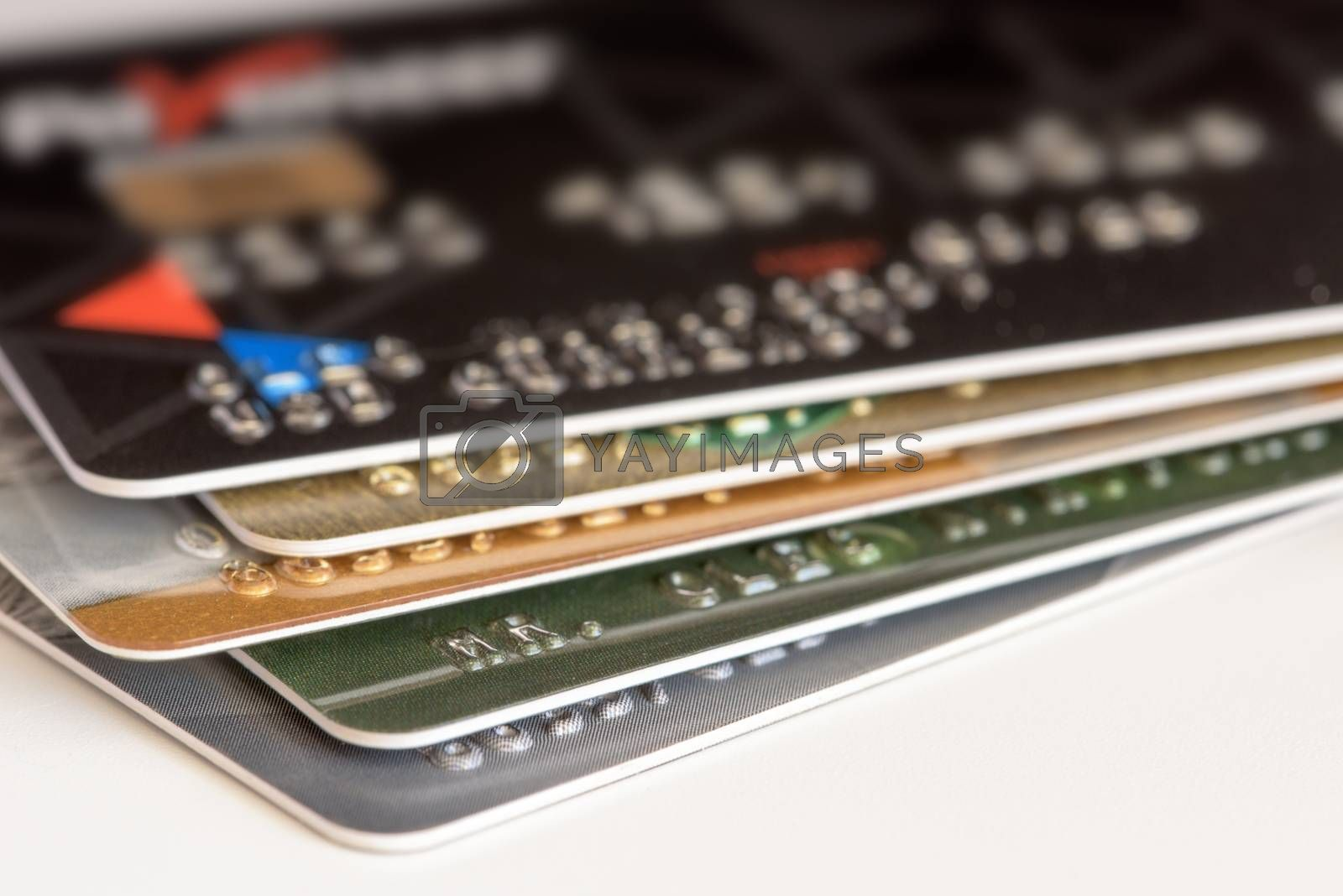 Credit card close-up. Credit card for payments