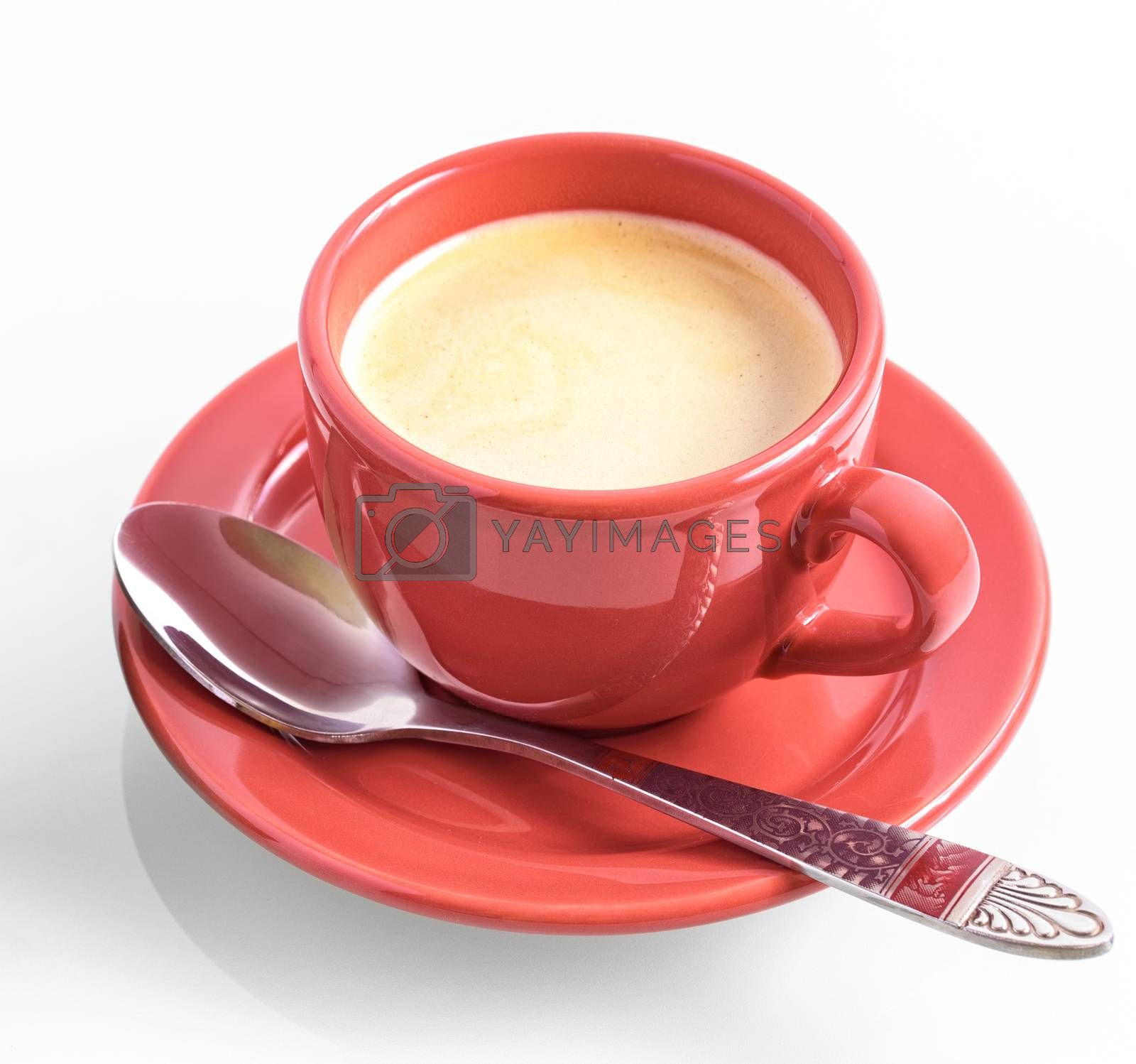 Cup of coffee. Coffee cup on white background