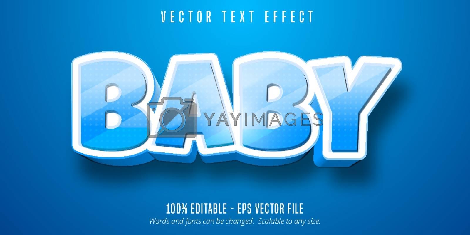 Baby text, cartoon style editable text effect