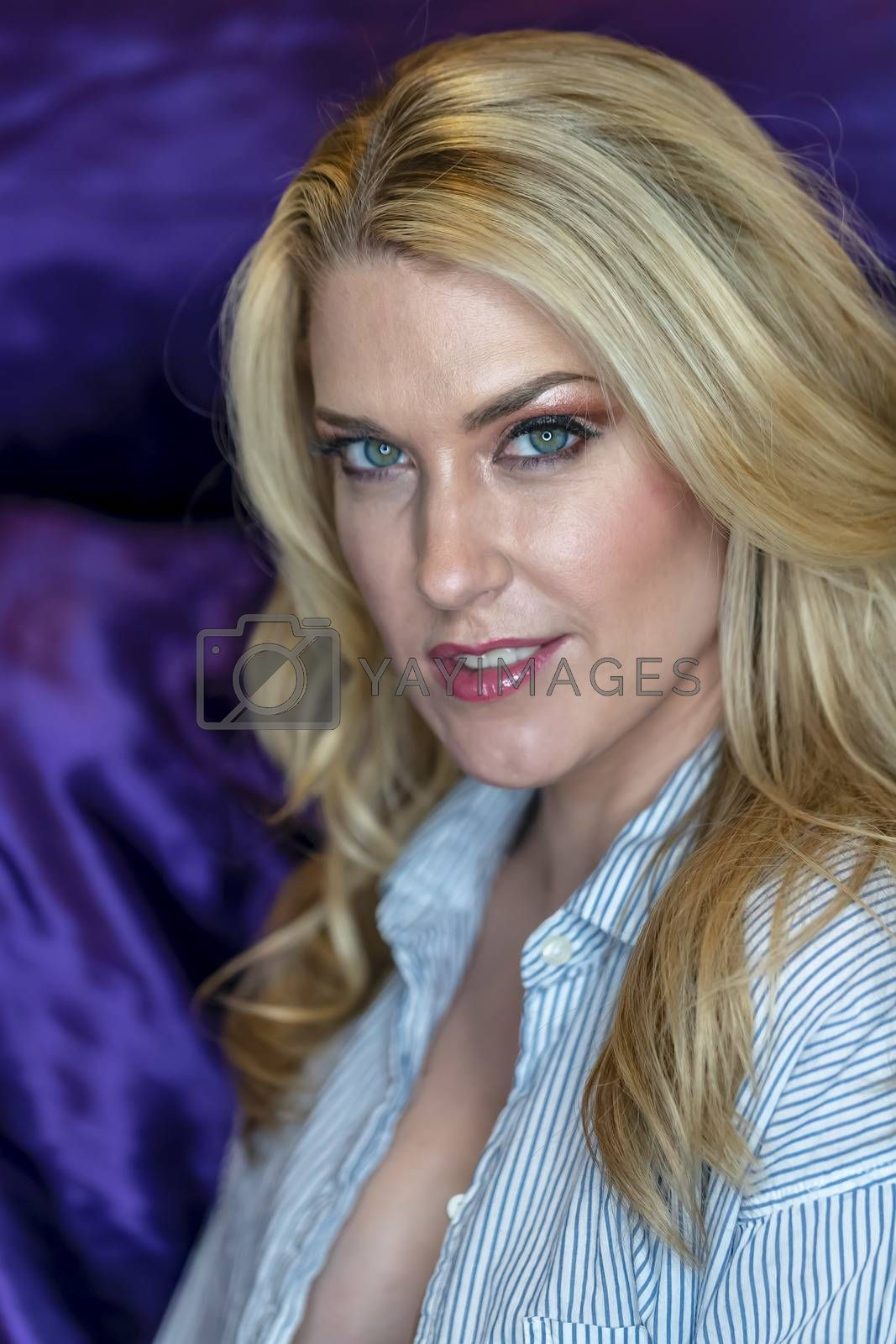 Royalty free image of Blonde Lingerie Model by actionsports