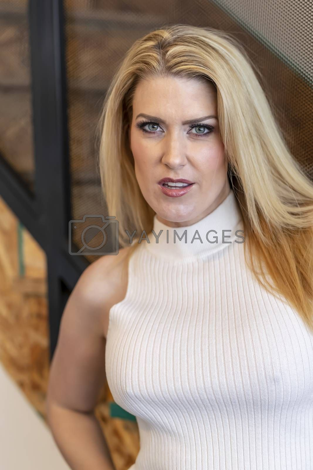 Royalty free image of Gorgeous Blonde Model Enjoying A Day At Home Before Work by actionsports