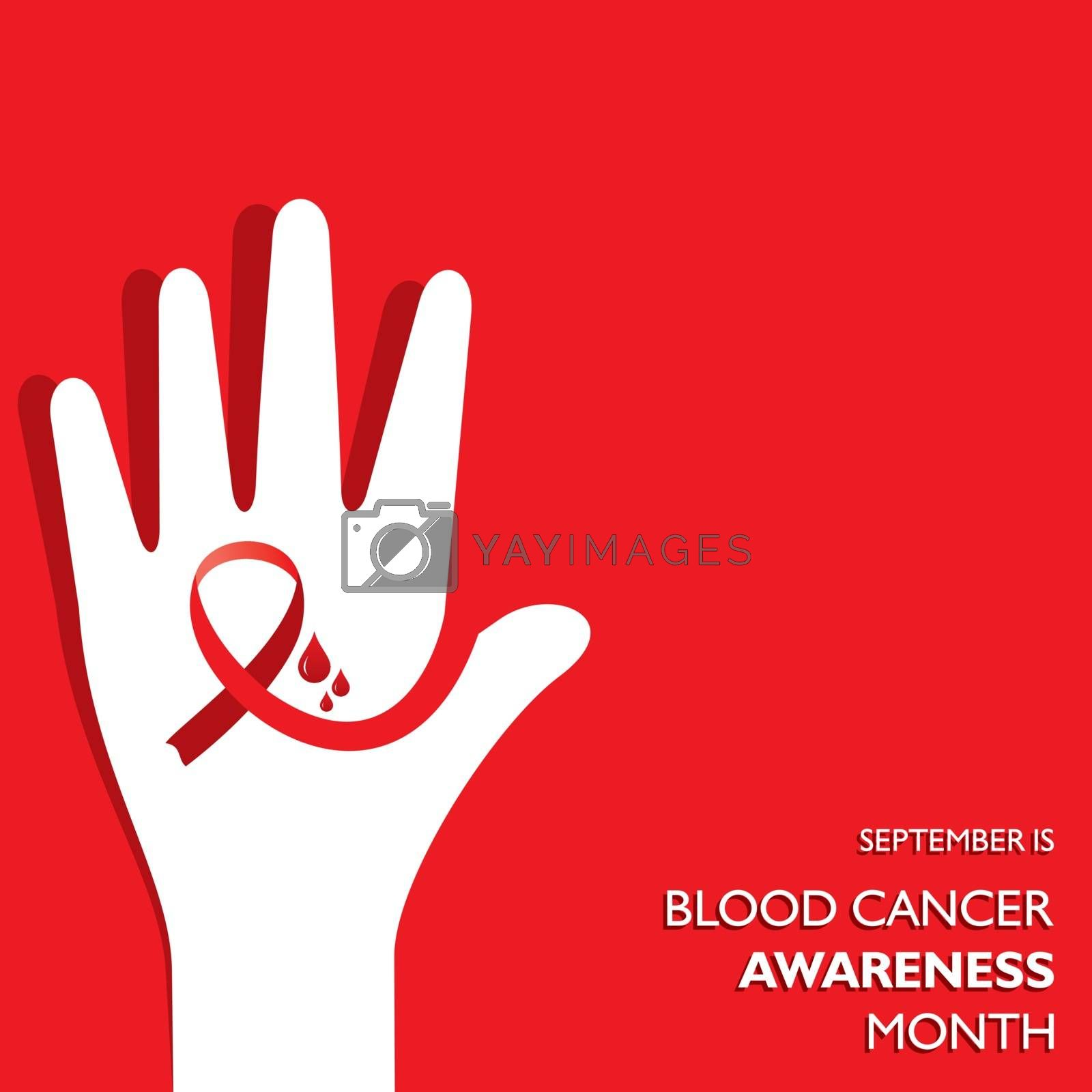 Royalty free image of Blood Cancer Awareness Month observed in September. by graphicsdunia4you