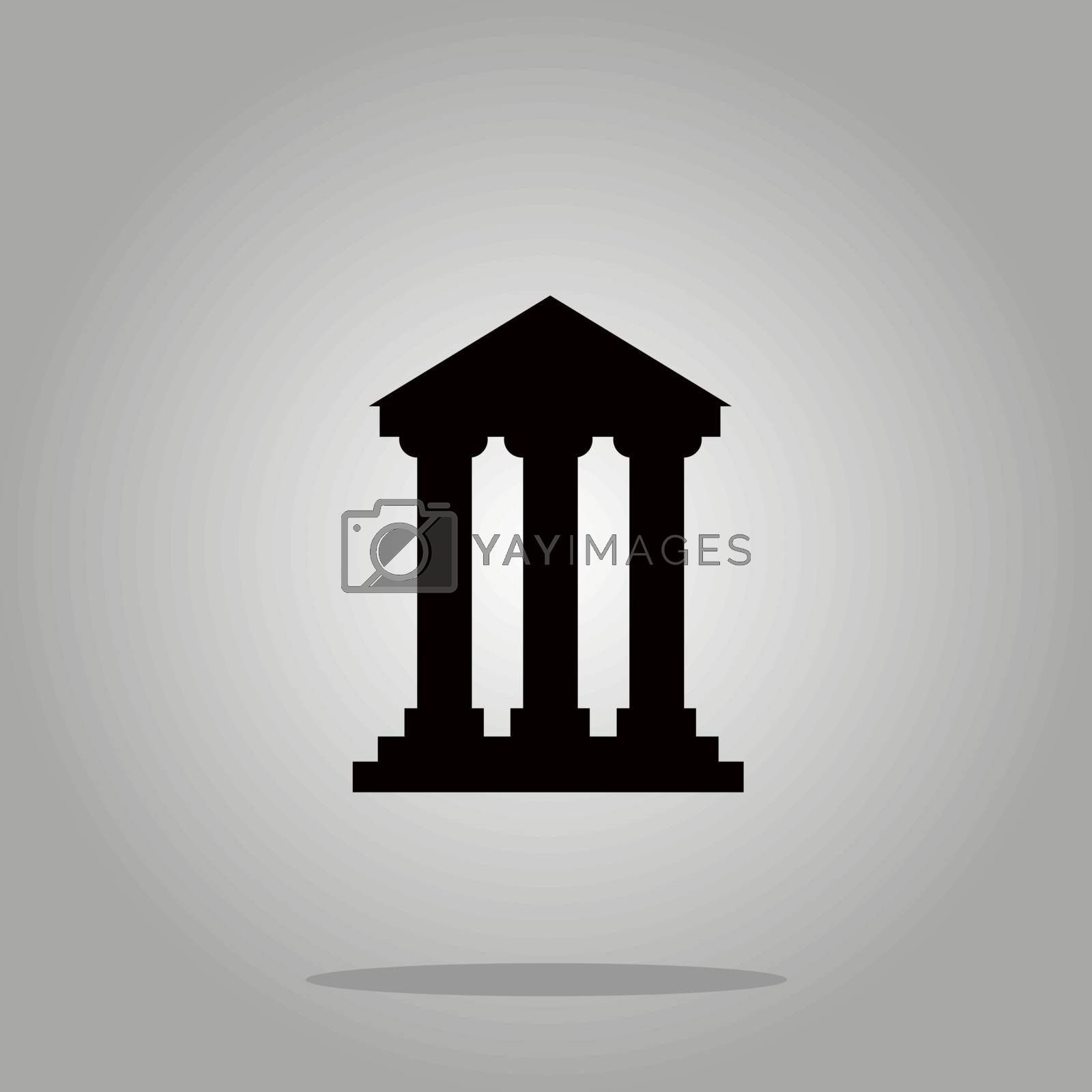 Royalty free image of Bank building sign icons, vector illustration. Flat design style by Alxyzt