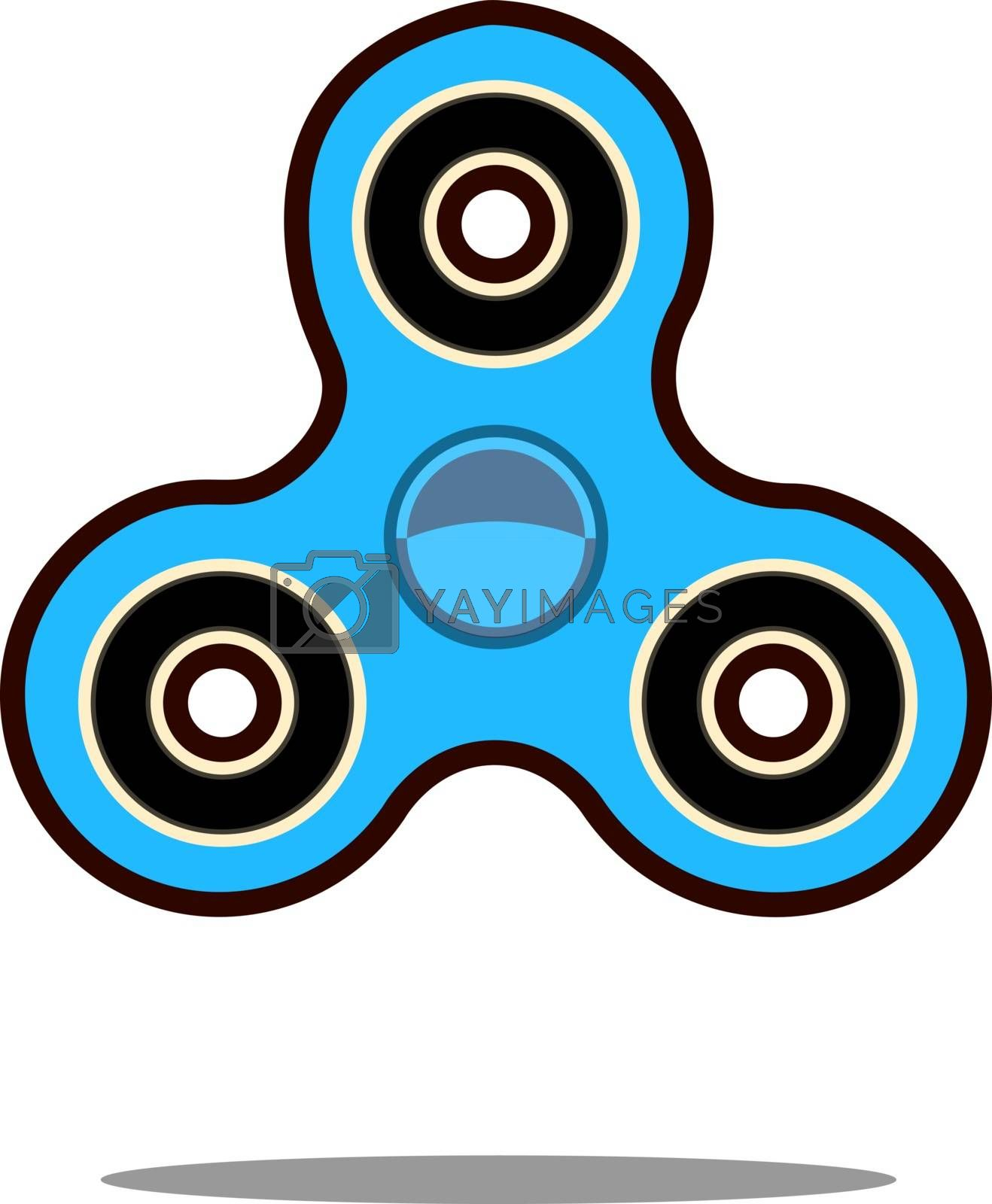 Royalty free image of Hand spinner flat vector illustration. Hand spinner tricks. Vector illustration isolated on white by Alxyzt