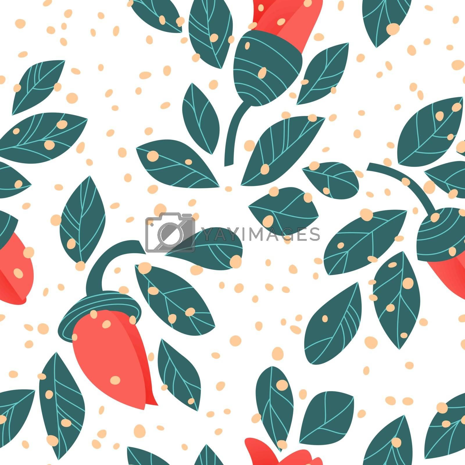Royalty free image of Vector floral pattern by Olatarakanova