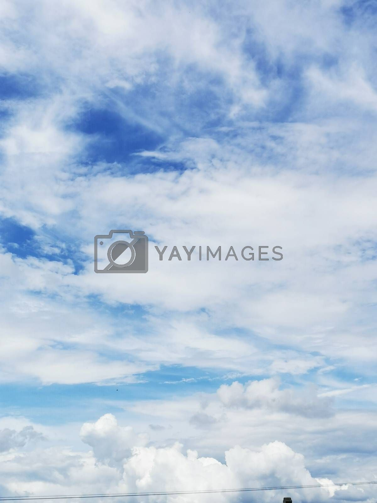 Royalty free image of A group of clouds in the sky by balage941
