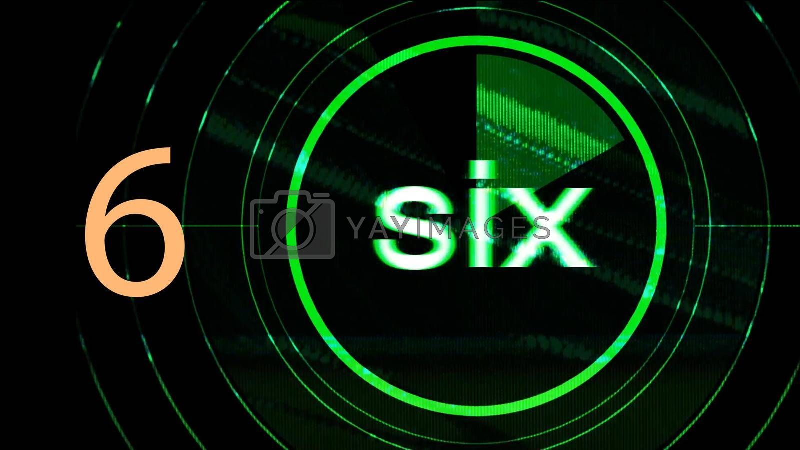 Royalty free image of Illustration of number written as digit and in english text by Photochowk