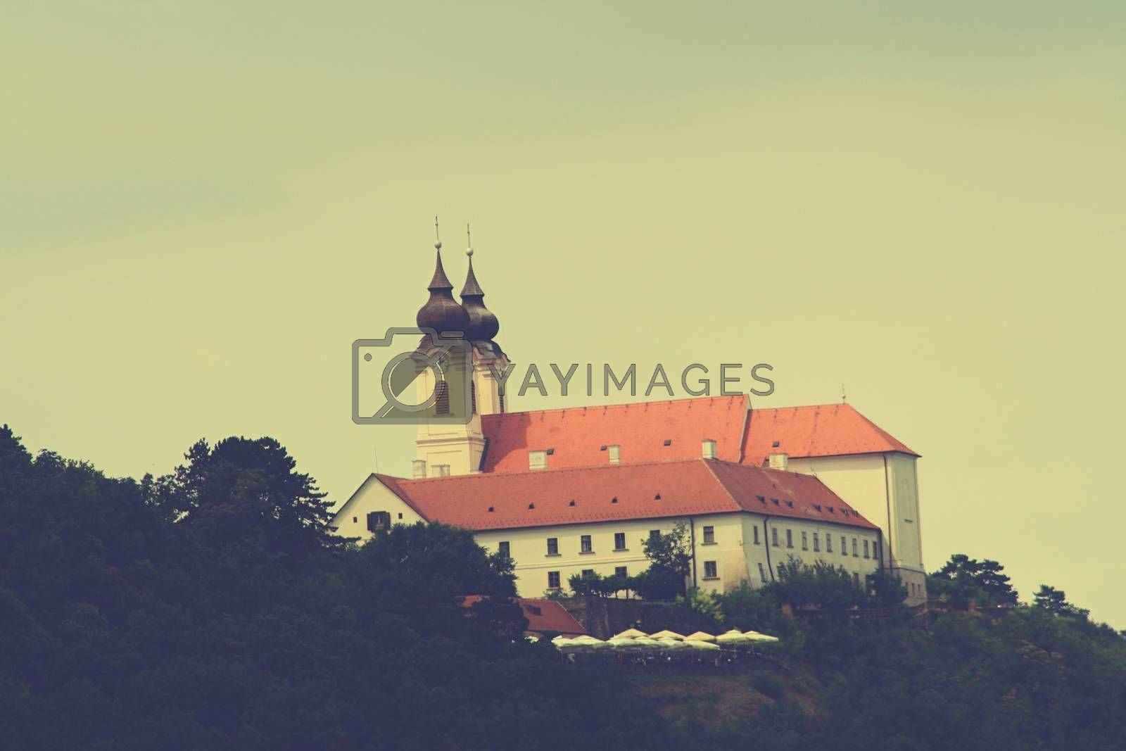 Royalty free image of Tihanyi Abbey with the clear sky by balage941