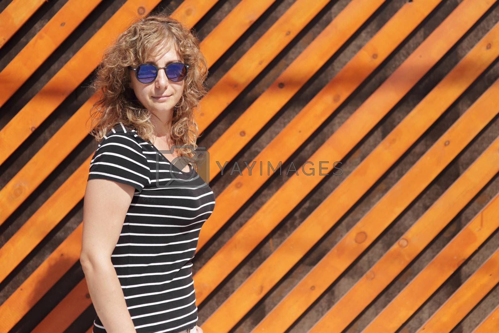 Royalty free image of Woman portrait in sunglasses, free space for text by selinsmo