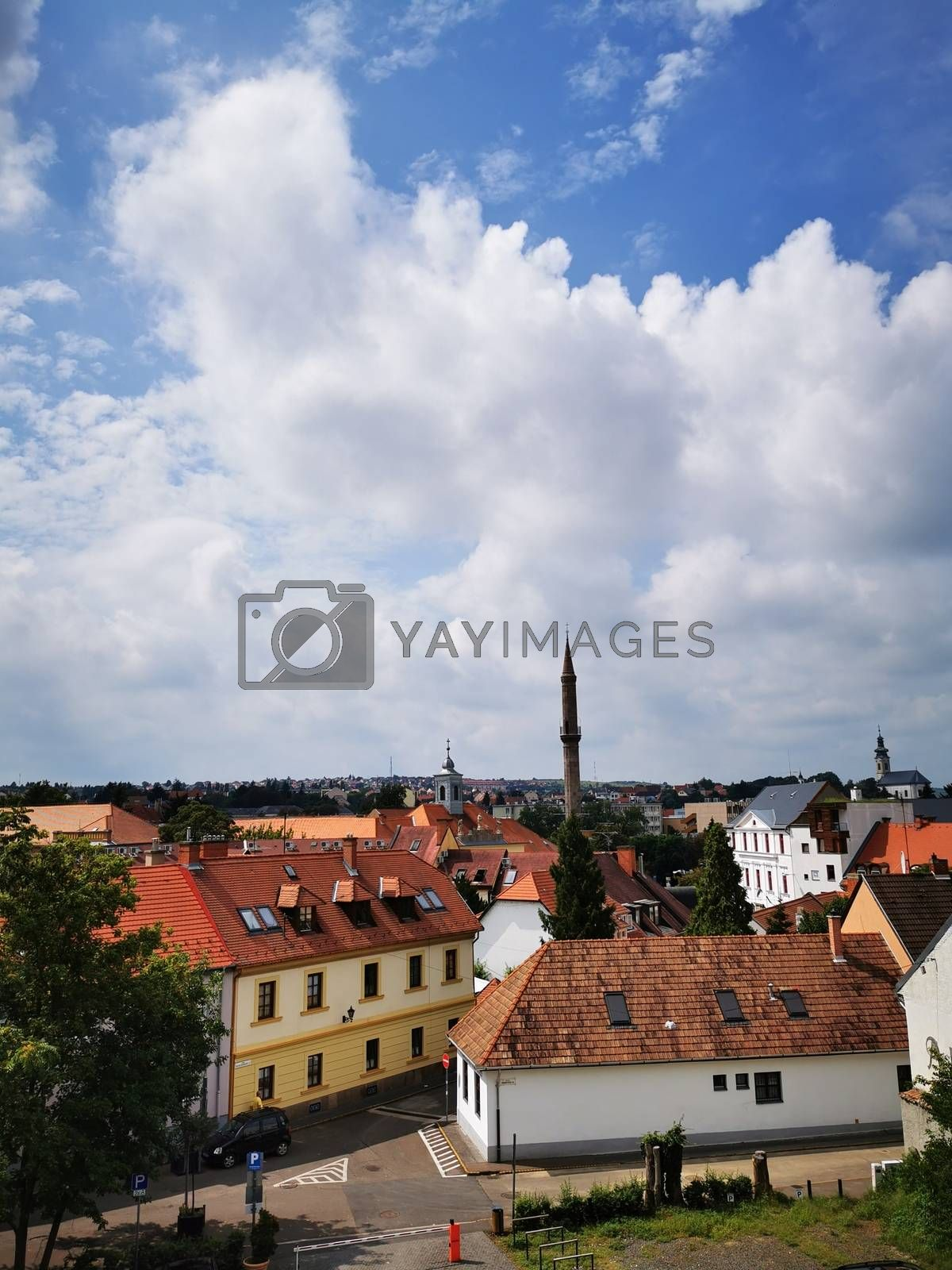 Royalty free image of Beautiful skyline of Eger photographed from the castle by balage941