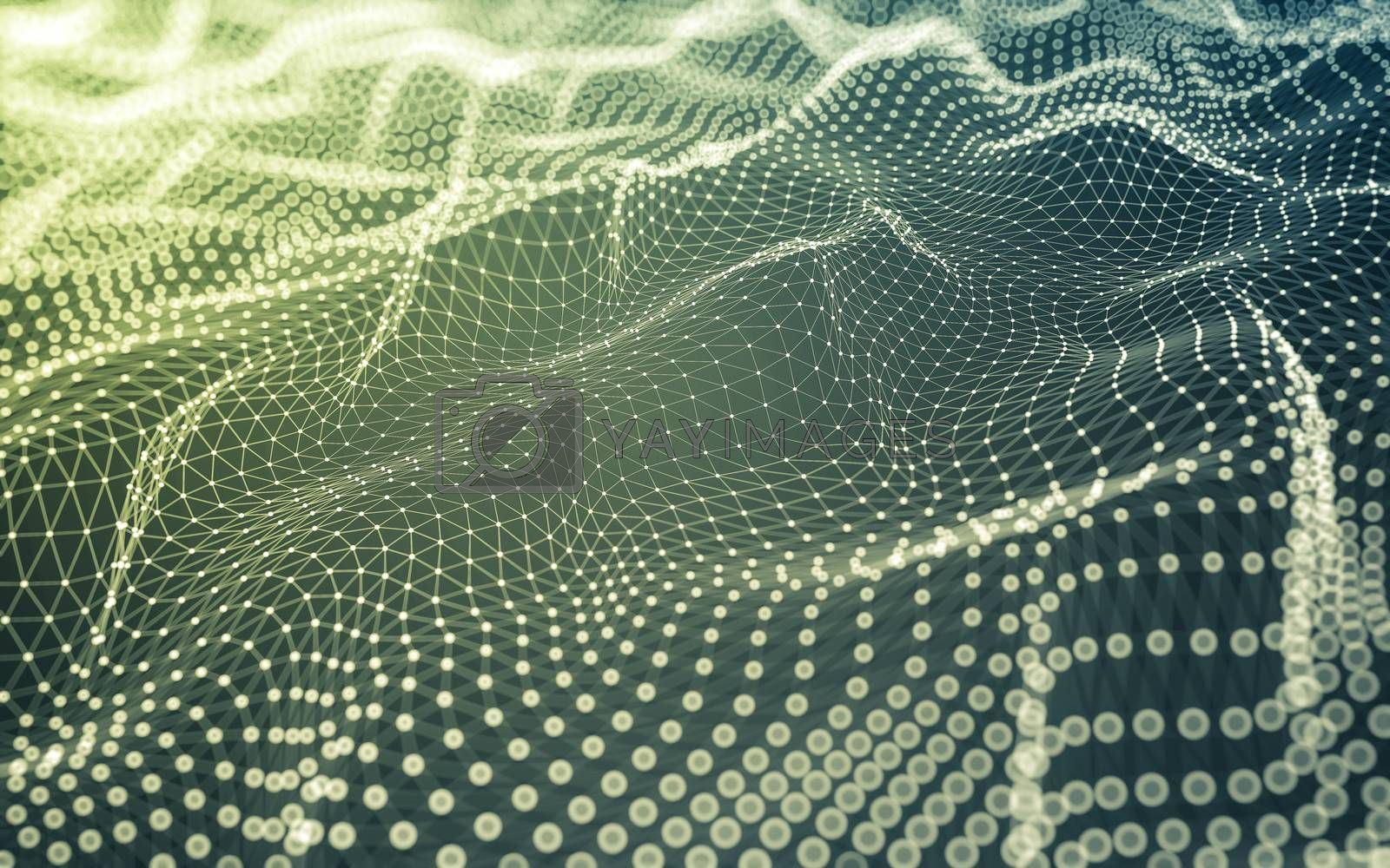 Royalty free image of Abstract background. Molecules technology with polygonal shapes, by teerawit